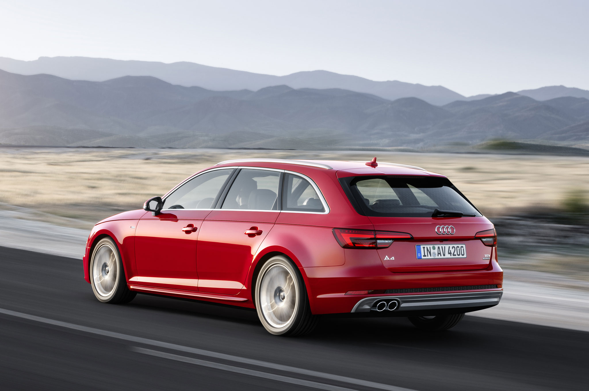 2017 Audi A4 Avant 3 0 TDI quattro rear three quarter in motion 02