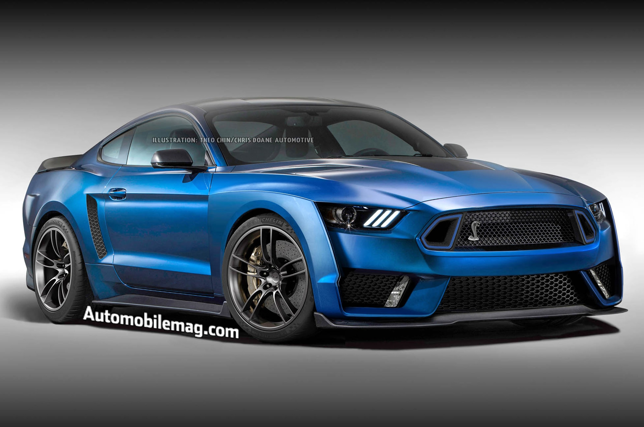 Ford Shelby GT500 Rendering Front Three Quarter