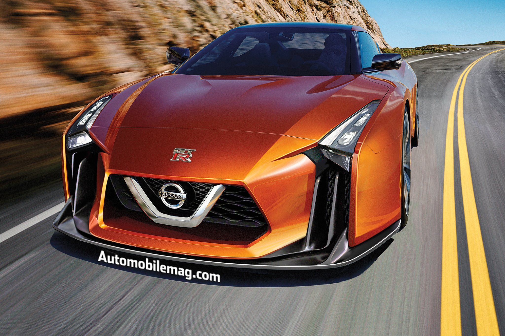 nissan gt r rendering front - Sports Cars Of The Future
