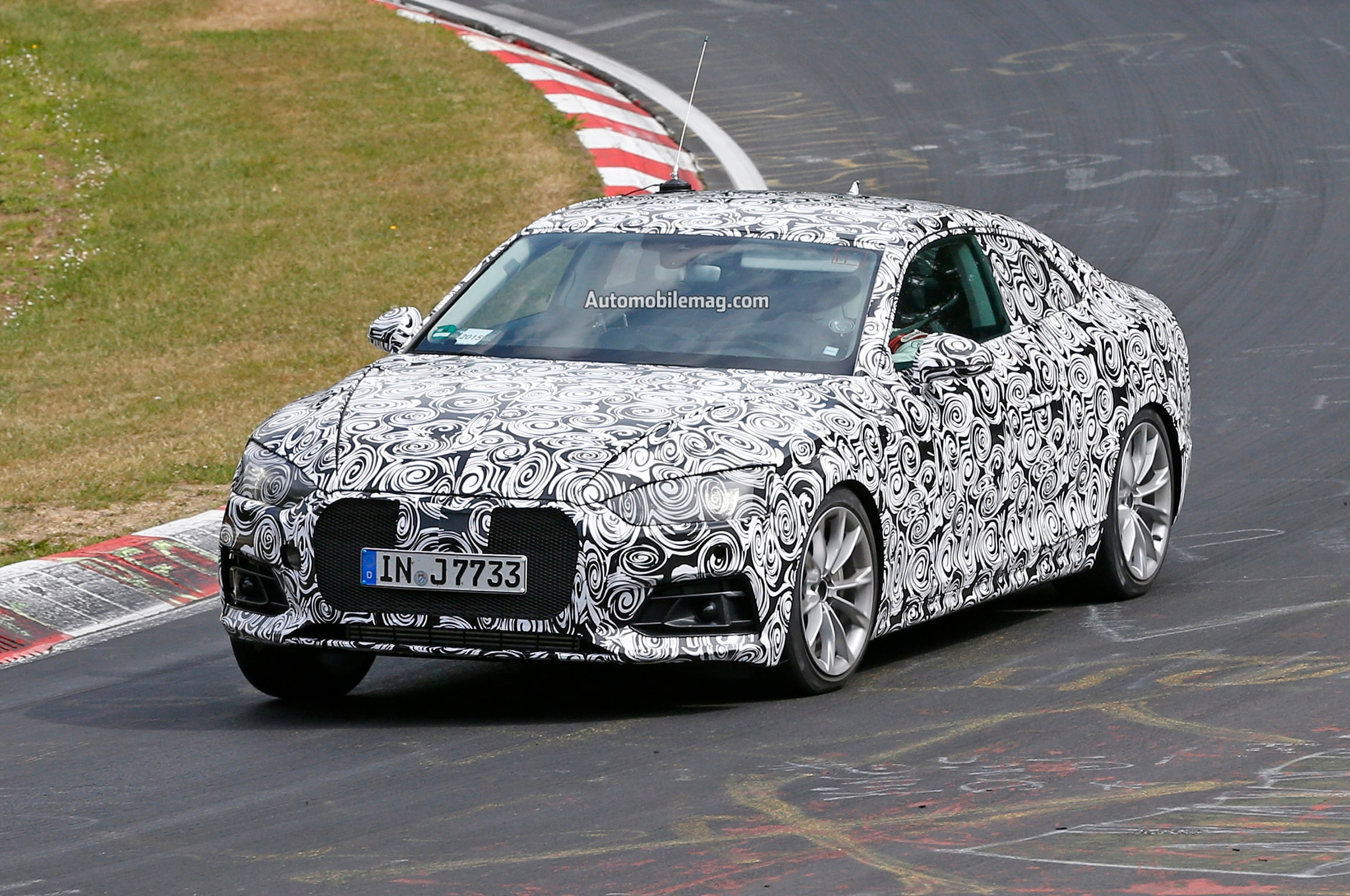 Audi A5 Spied Front Three Quarters 03