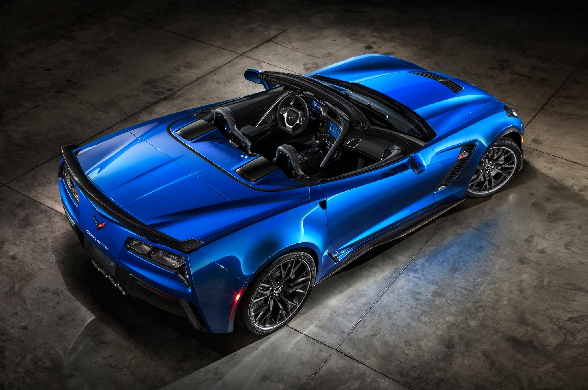 2015 chevrolet corvette z06 convertible from above corvette stingray convertible tail - Corvette 2015 Stingray Blue