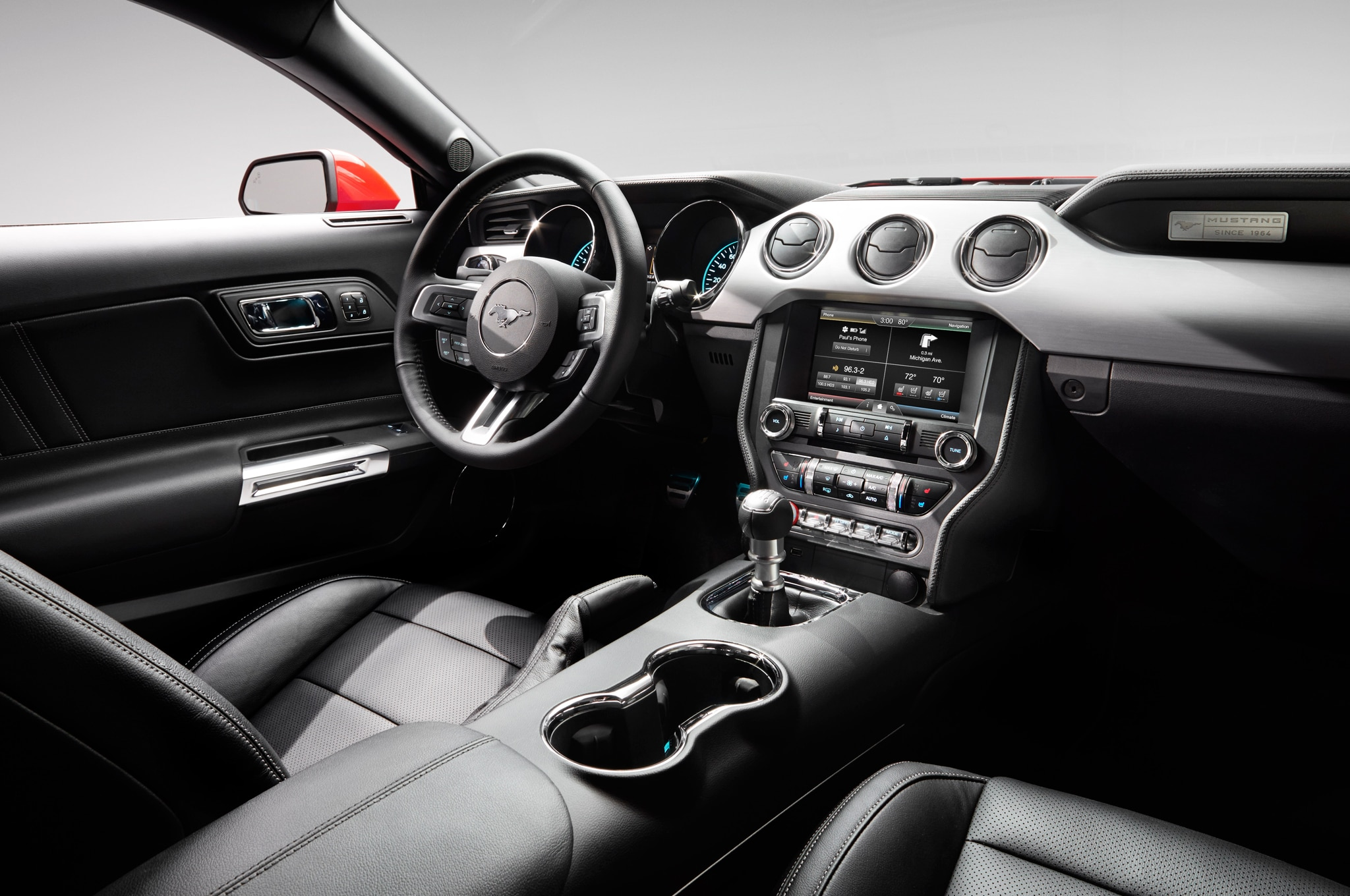 2015 ford mustang interior - 2015 Ford Mustang White Convertible