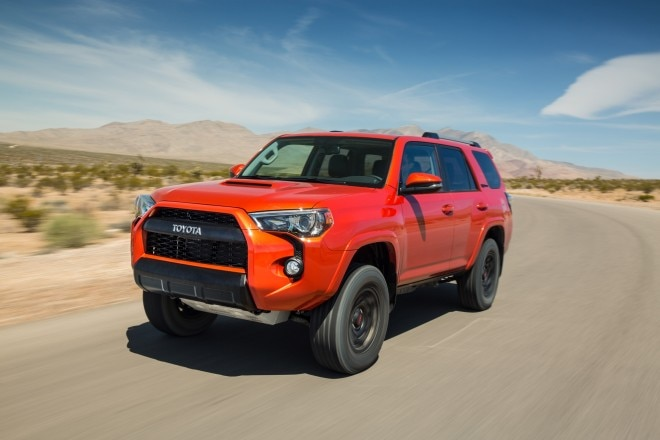 2015 Toyota 4Runner TRD Pro front three quarters in motion
