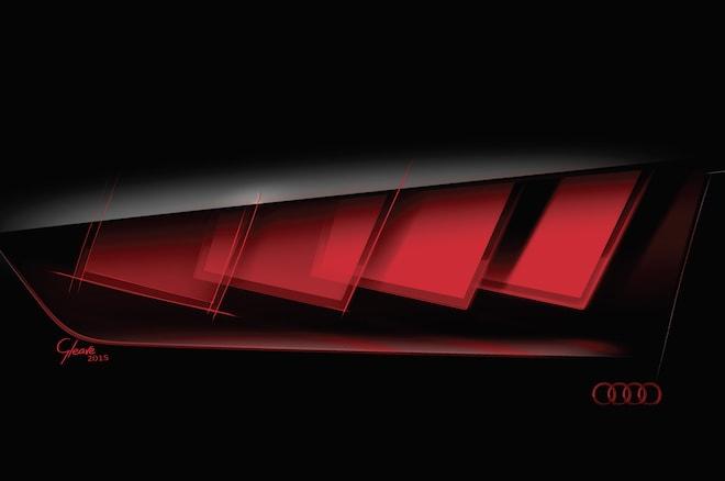 audi teases frankfurt bound concept car 39 s oled taillights. Black Bedroom Furniture Sets. Home Design Ideas