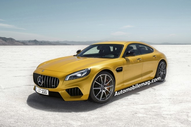 Mercedes AMG GT4 Rendering Front Three Quarter 660x438