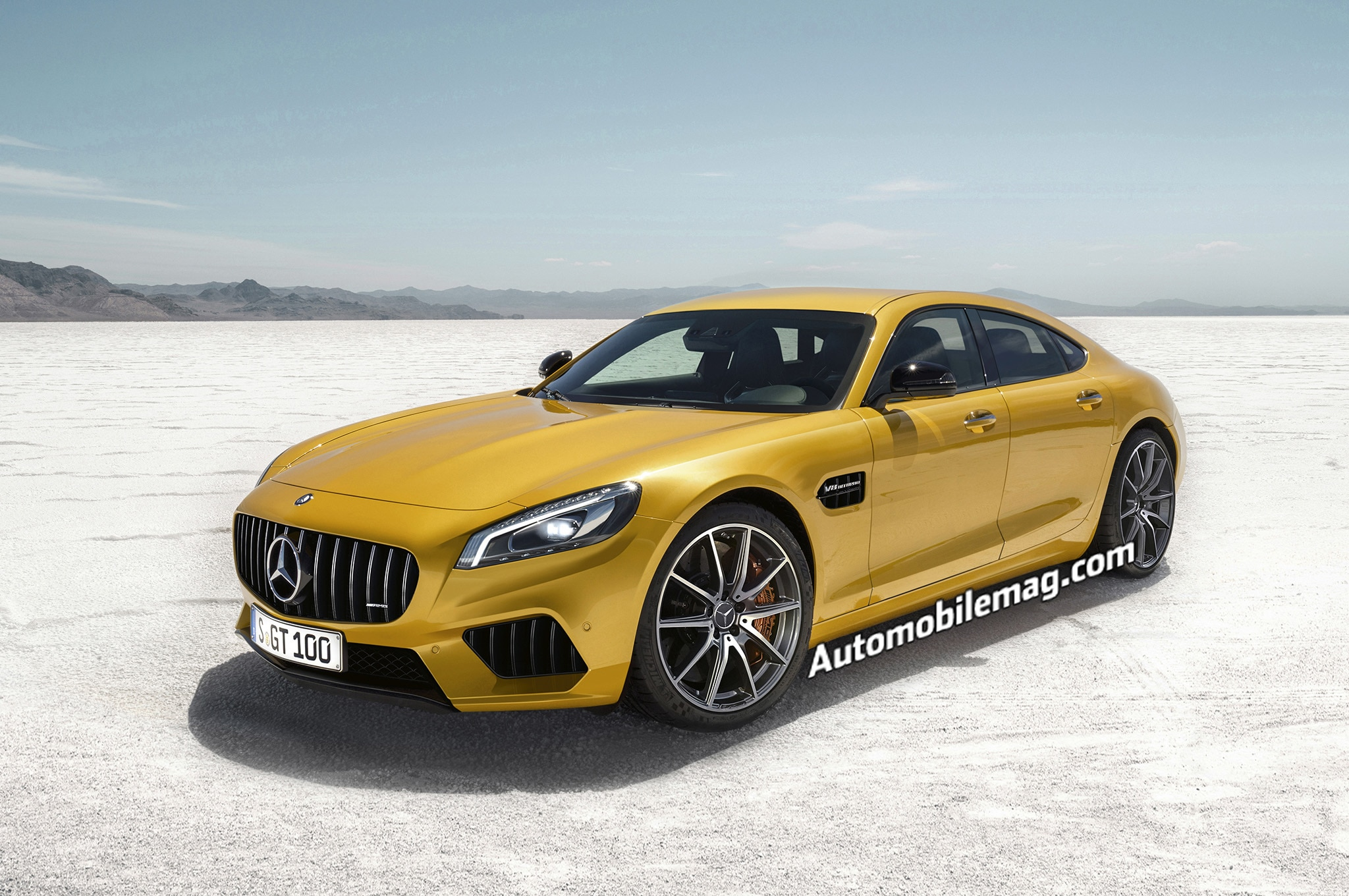Mercedes AMG GT4 Rendering Front Three Quarter