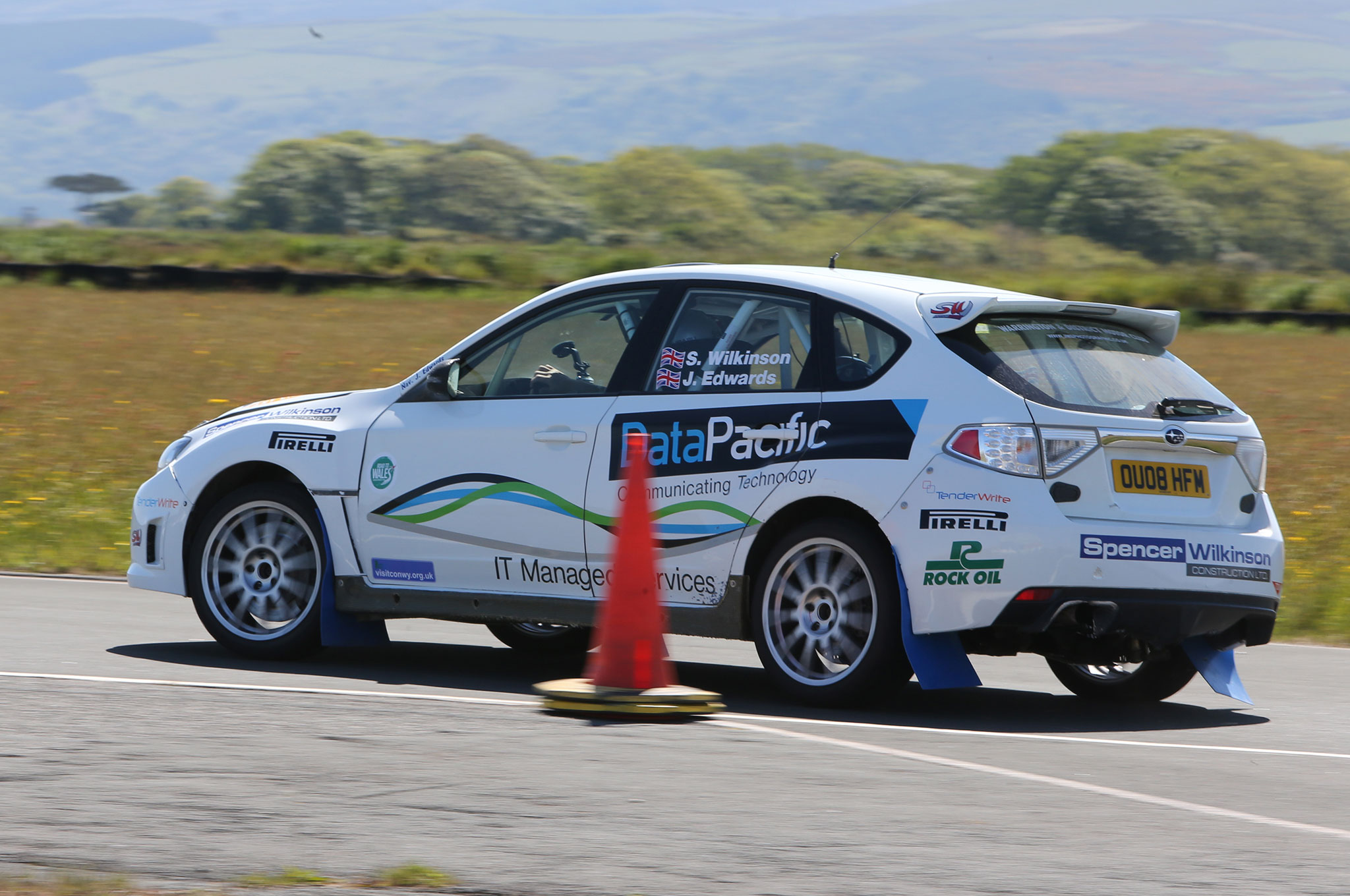 Ripping Around the Isle of Man in Subaru WRX STI Rally Cars