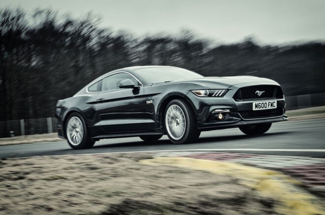 2015 Ford Mustang GT Front Three Quarter In Motion 01 660x438