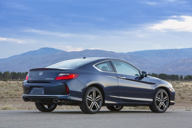 2016 Honda Accord Coupe Touring rear three quarters