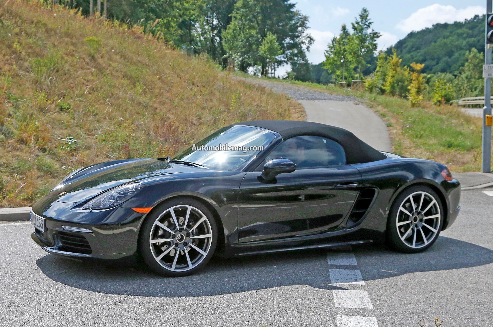 2016 porsche boxster refresh spied with hints to new powertrain. Black Bedroom Furniture Sets. Home Design Ideas