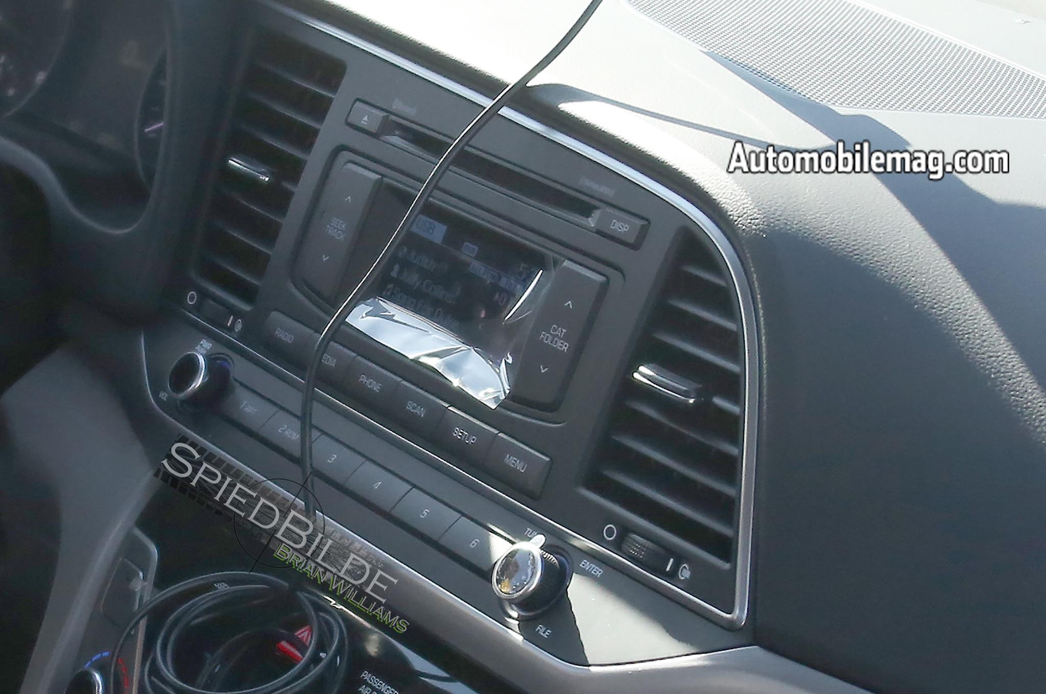 2017 Hyundai Elantra Interior Spied With Updated Dashboard Design
