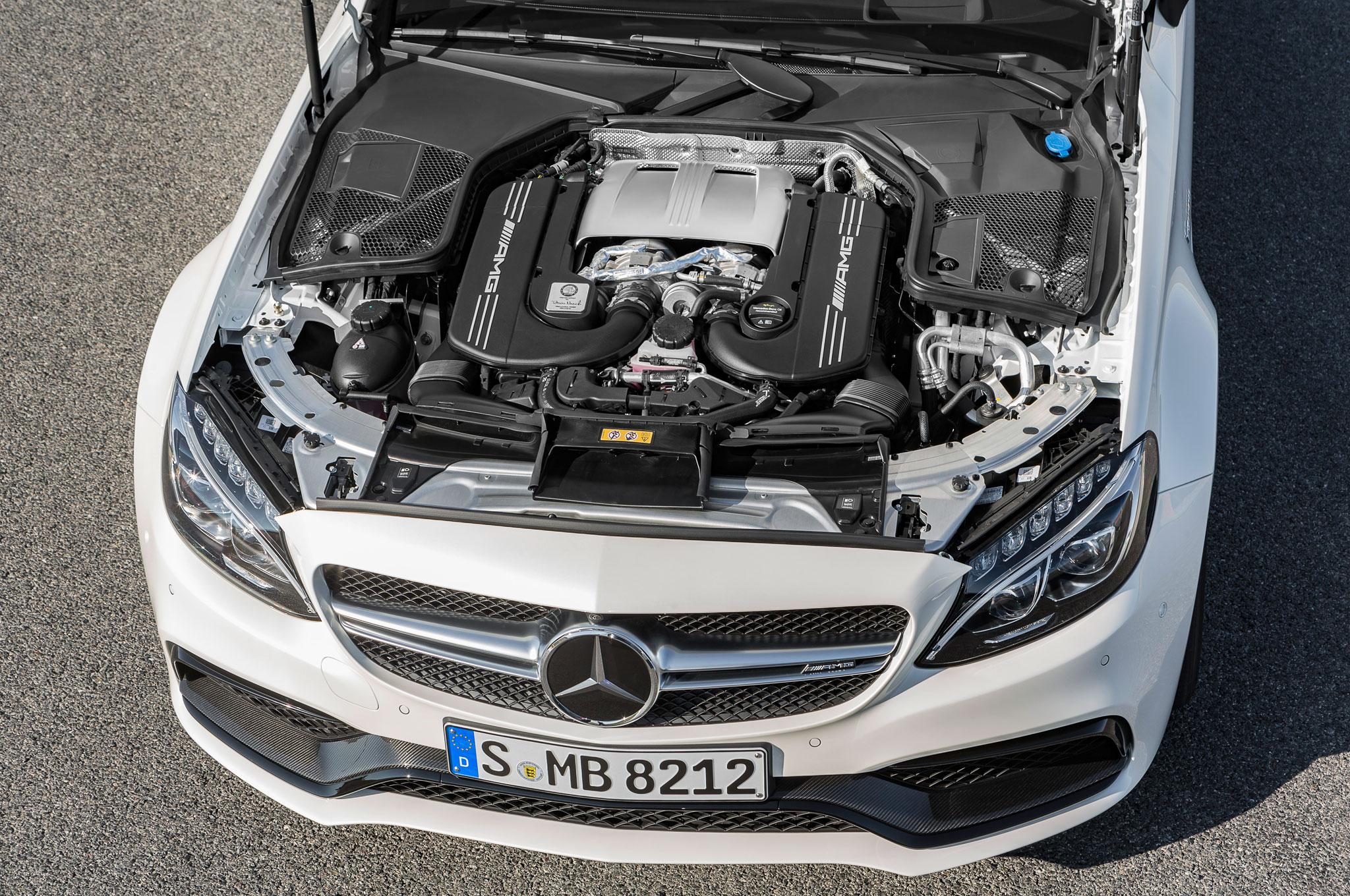 2017 mercedes amg c63 coupe brings twin turbo punch with for Mercedes benz c63 engine