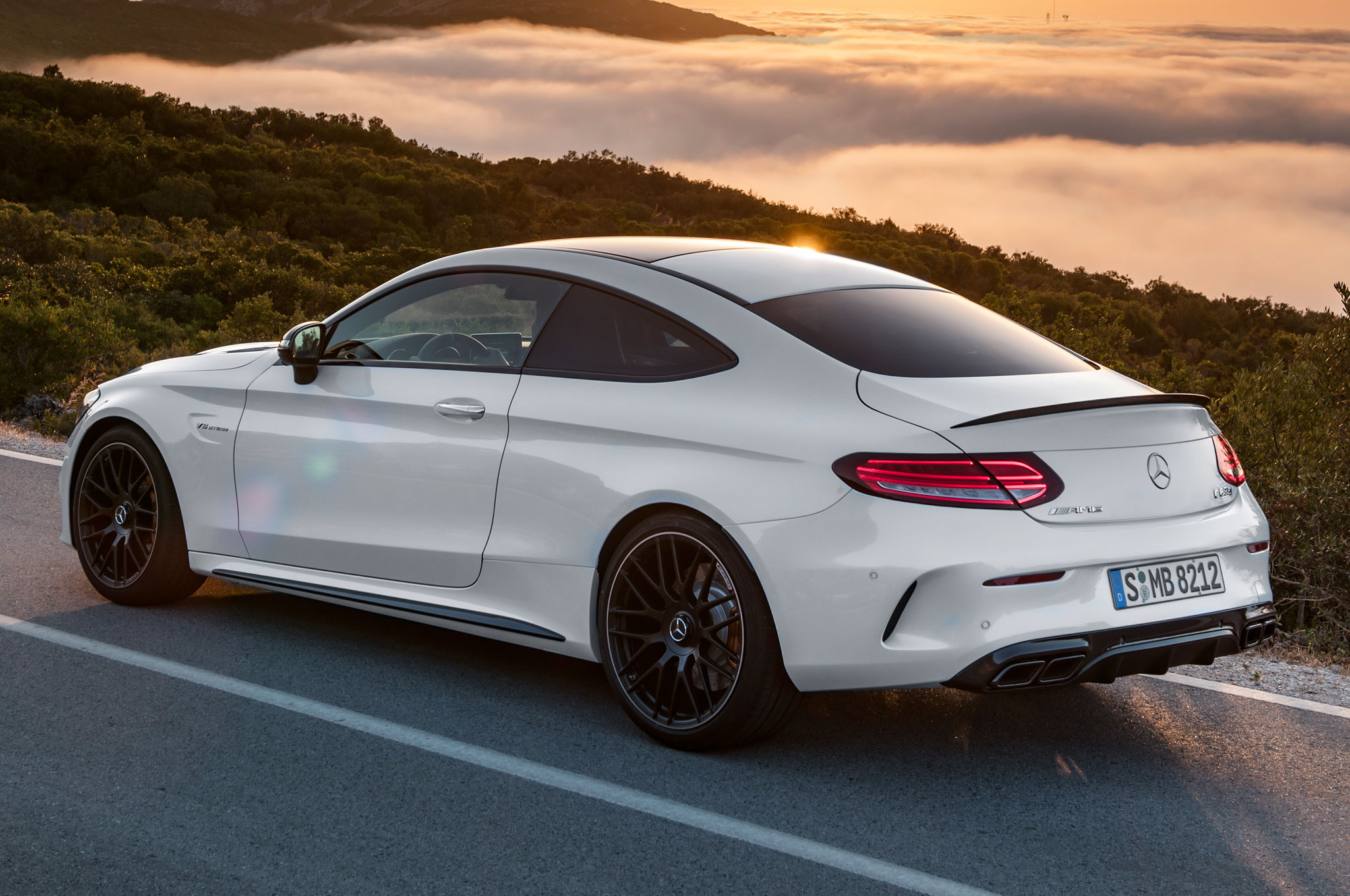 2017 mercedes amg c63 coupe brings twin turbo punch with for Mercedes benz c63 amg sedan