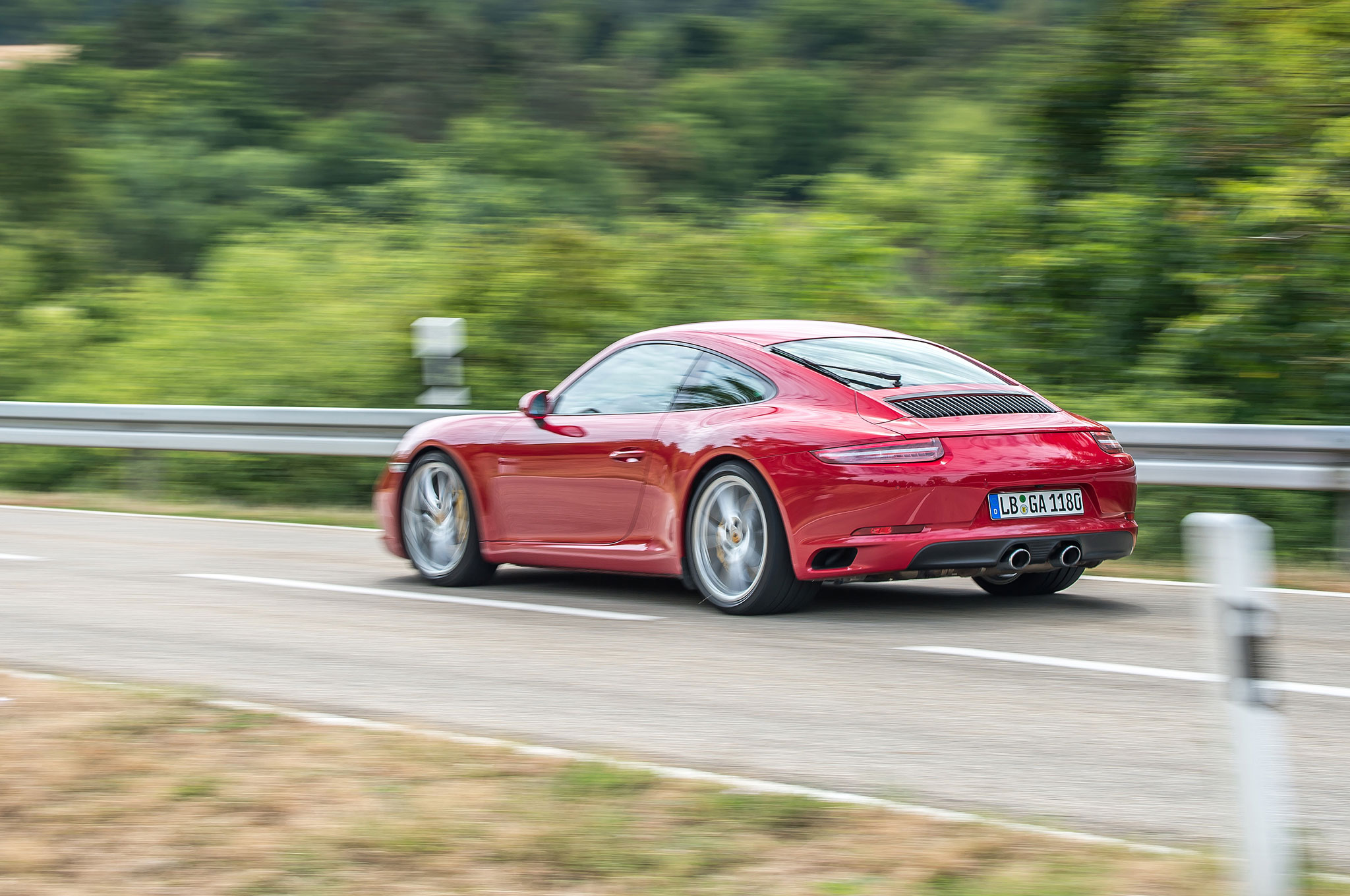 on the road in the 2017 porsche 911 carrera s