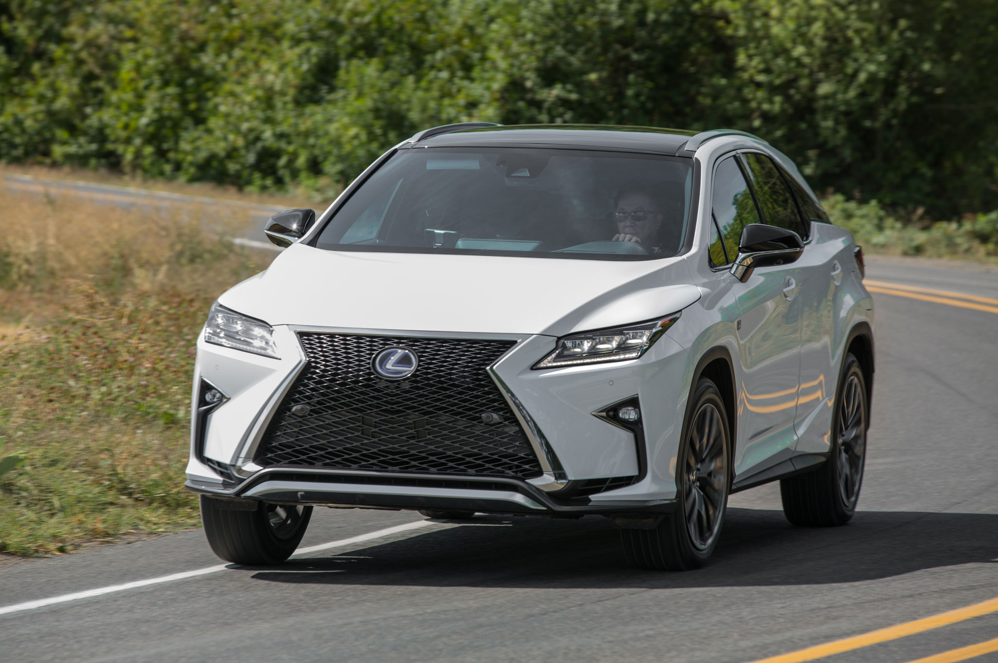 http://st.automobilemag.com/uploads/sites/11/2015/09/2016-Lexus-RX-350-AWD-F-Sport-front-three-quarter-in-motion-08.jpg