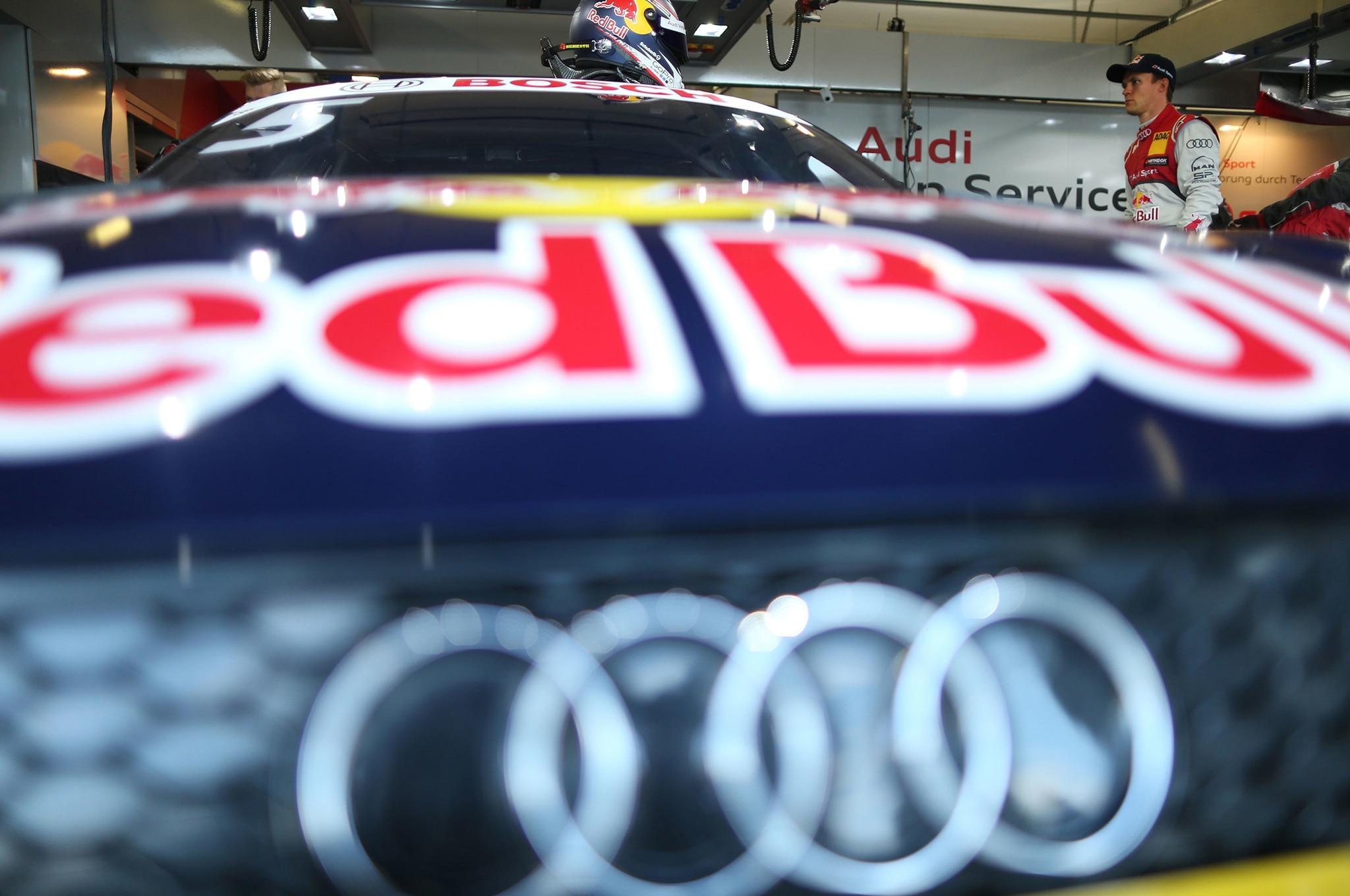 Audi Red Bull Racing Logo Close