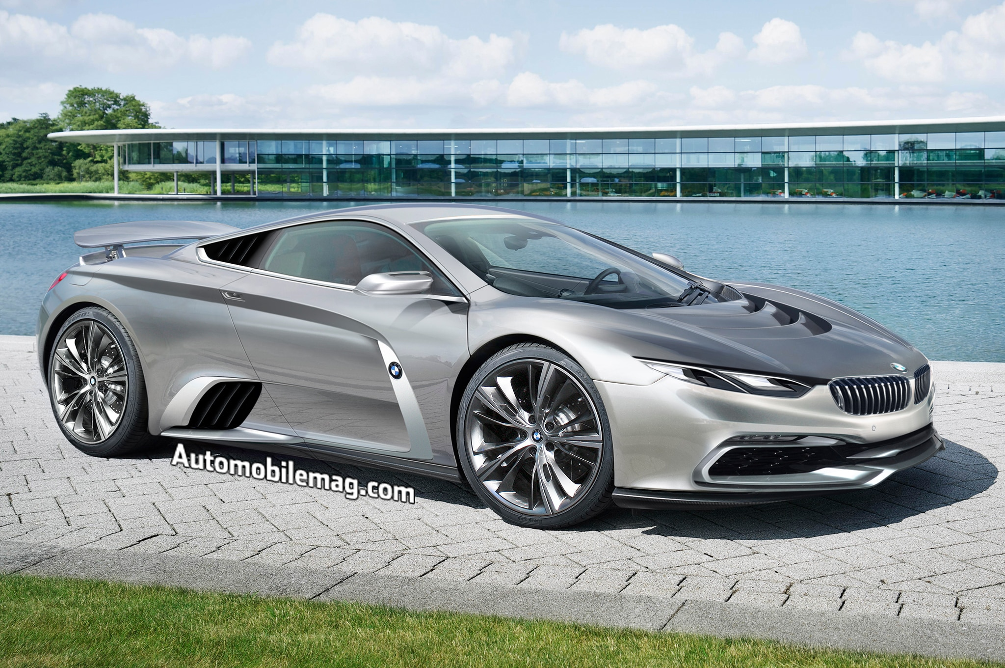 BMW McLaren Supercar Rendering Front Three Quarter