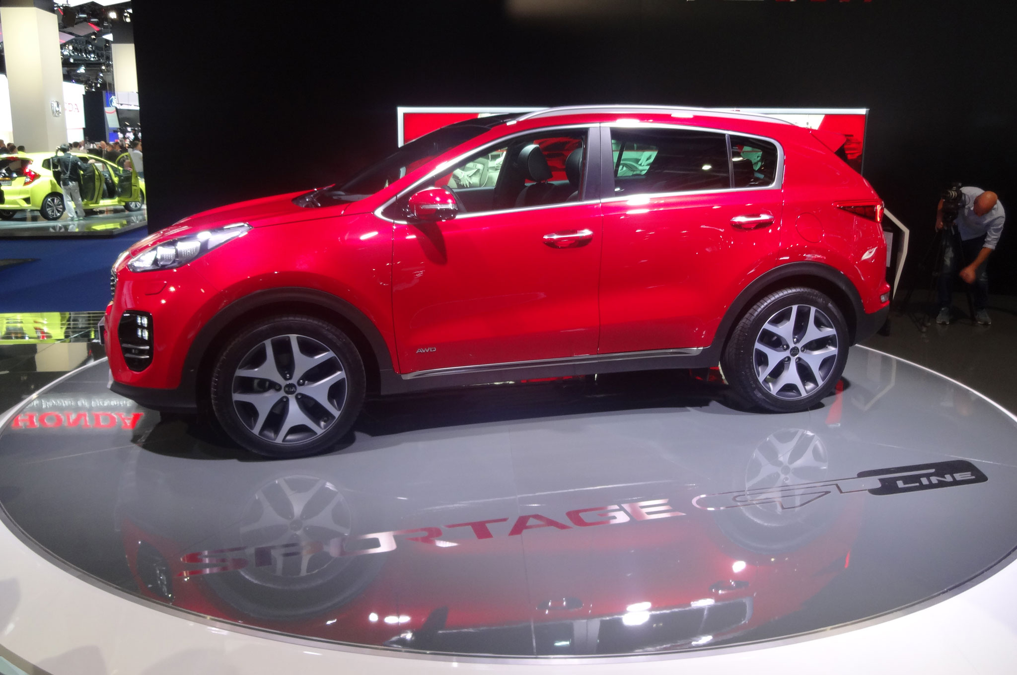 2017 kia sportage arrives in frankfurt with 1 6l turbo four dct. Black Bedroom Furniture Sets. Home Design Ideas
