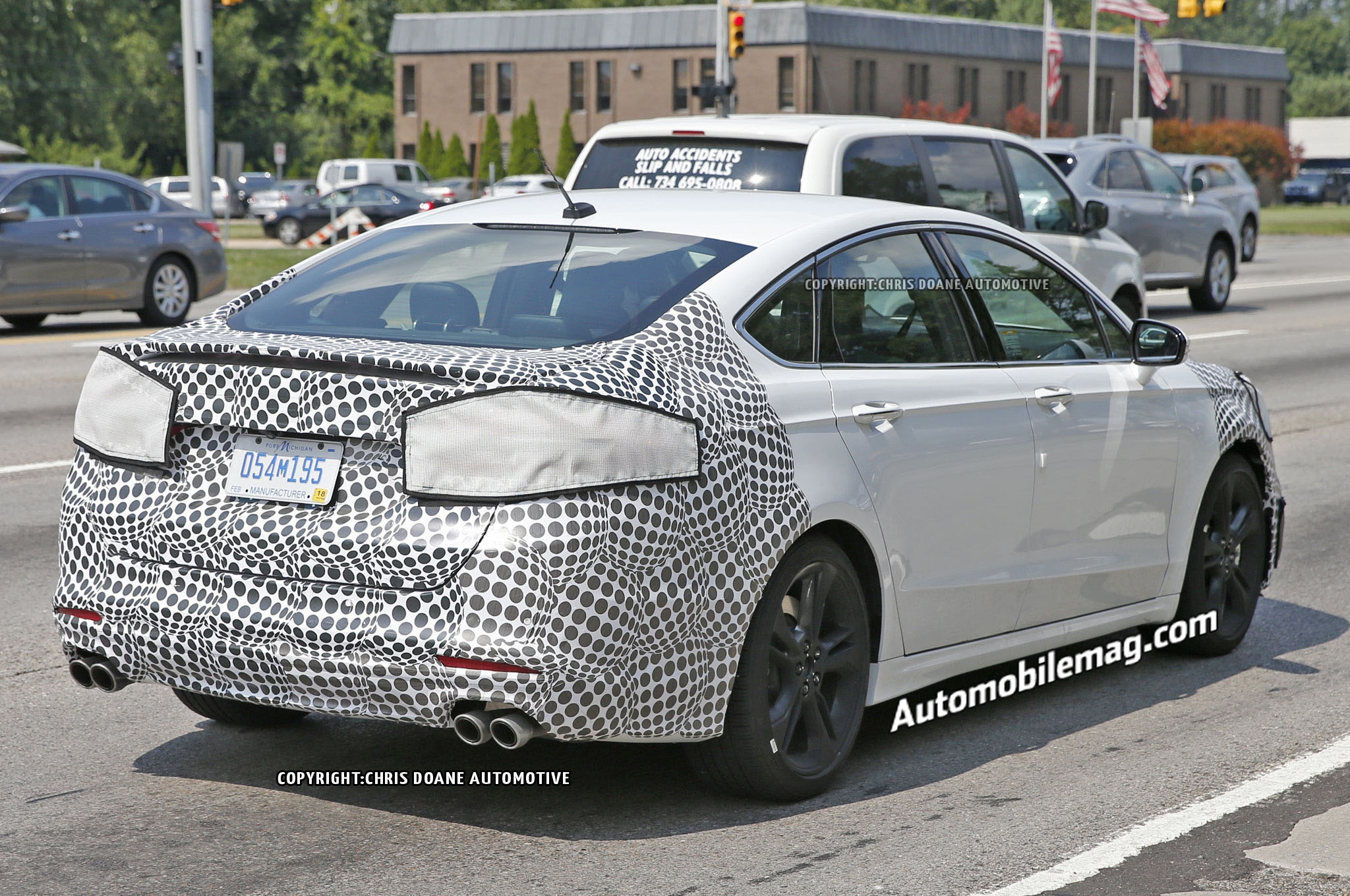 ford fusion st prototype spied with quad exhausts. Black Bedroom Furniture Sets. Home Design Ideas