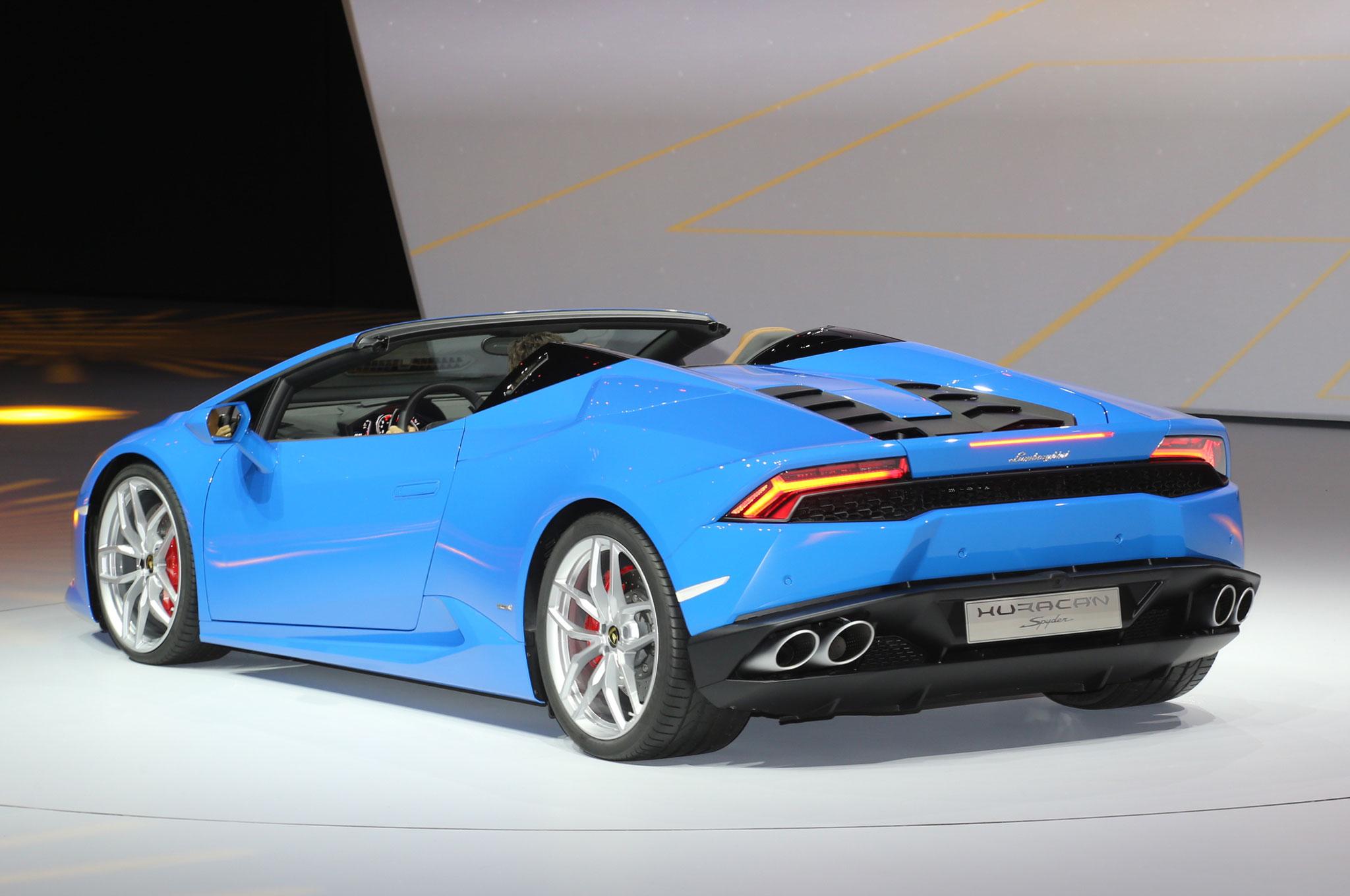 Lamborghini Huracan Spyder Rear Three Quarter 033