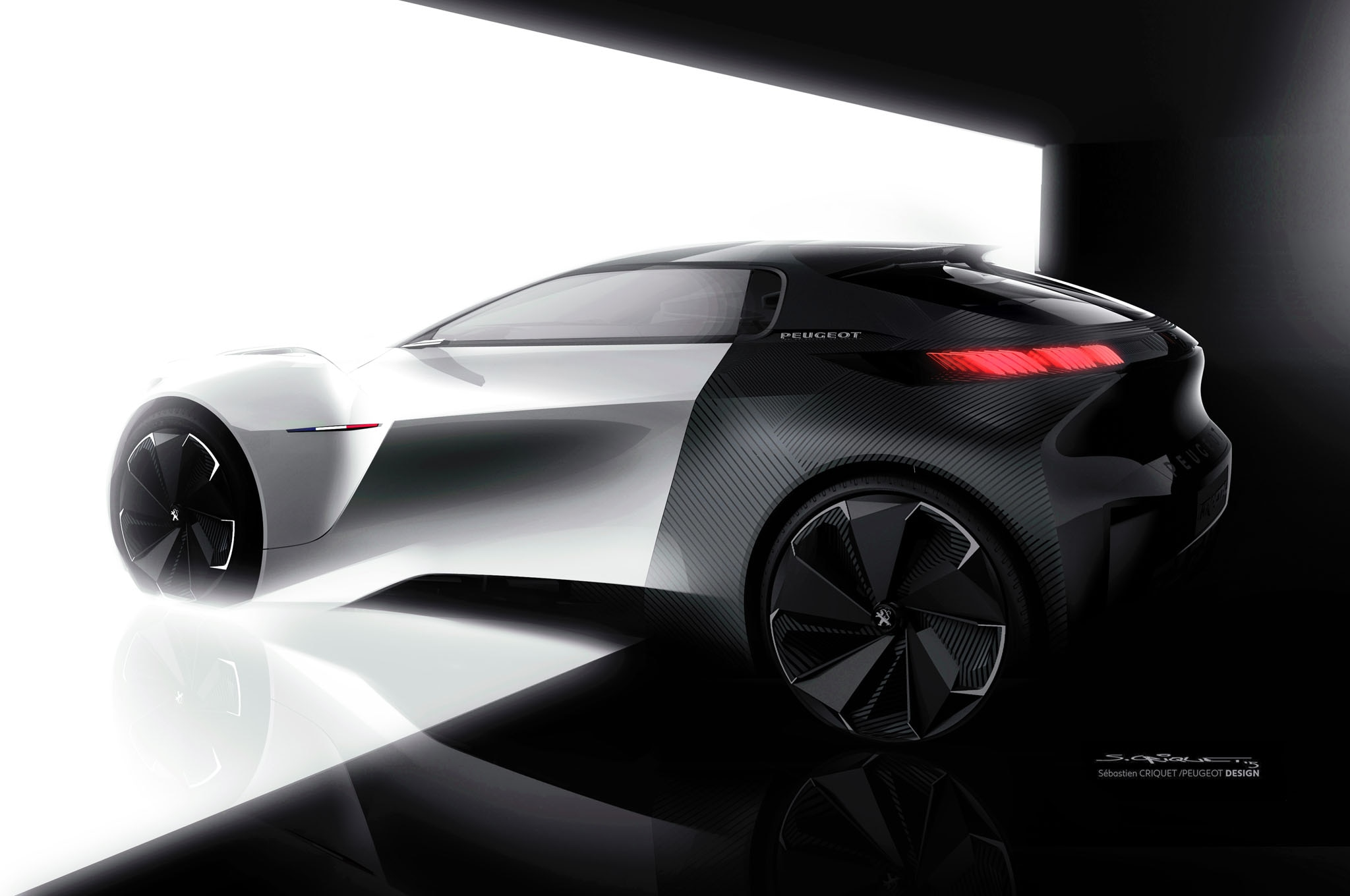 peugeot fractal concept shows off 3d printing electric powertrain. Black Bedroom Furniture Sets. Home Design Ideas