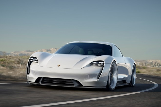 Porsche Mission E Concept front three quarter