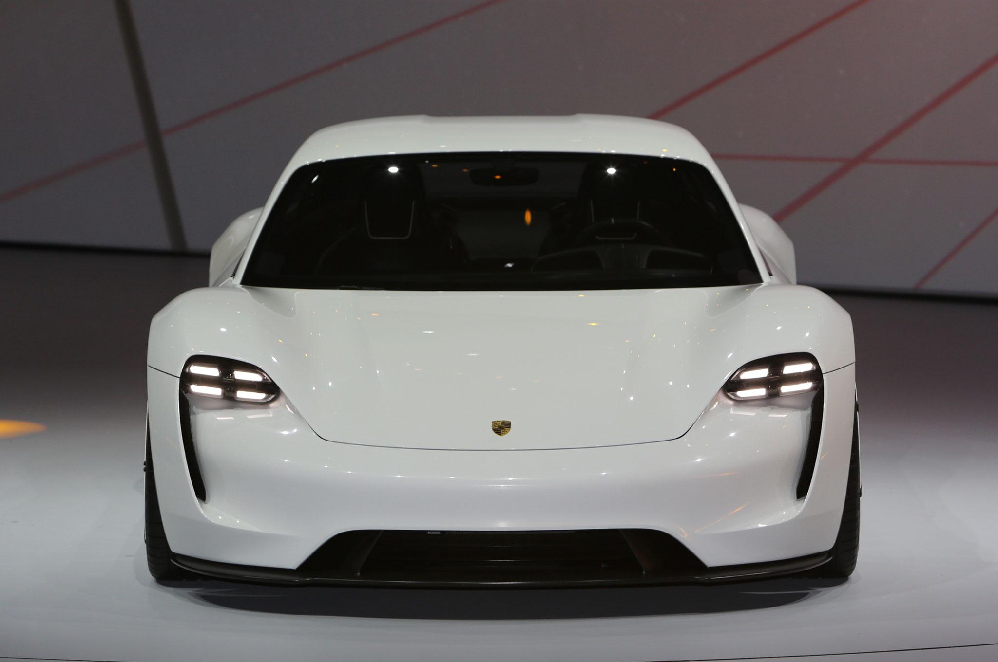 Porsche Mission E Concept Ev Arrives In Frankfurt With 600 Hp