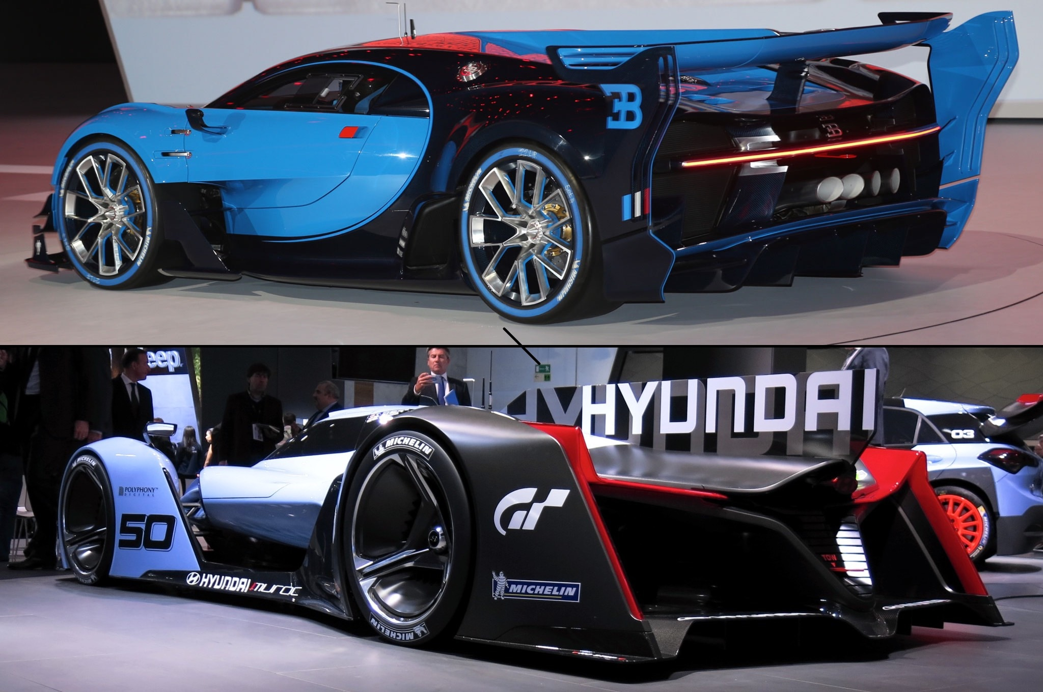 bugatti-hyundai-vision-gran-turismo-rear-pair Fascinating Gran Turismo Psp Bugatti Veyron Price Cars Trend