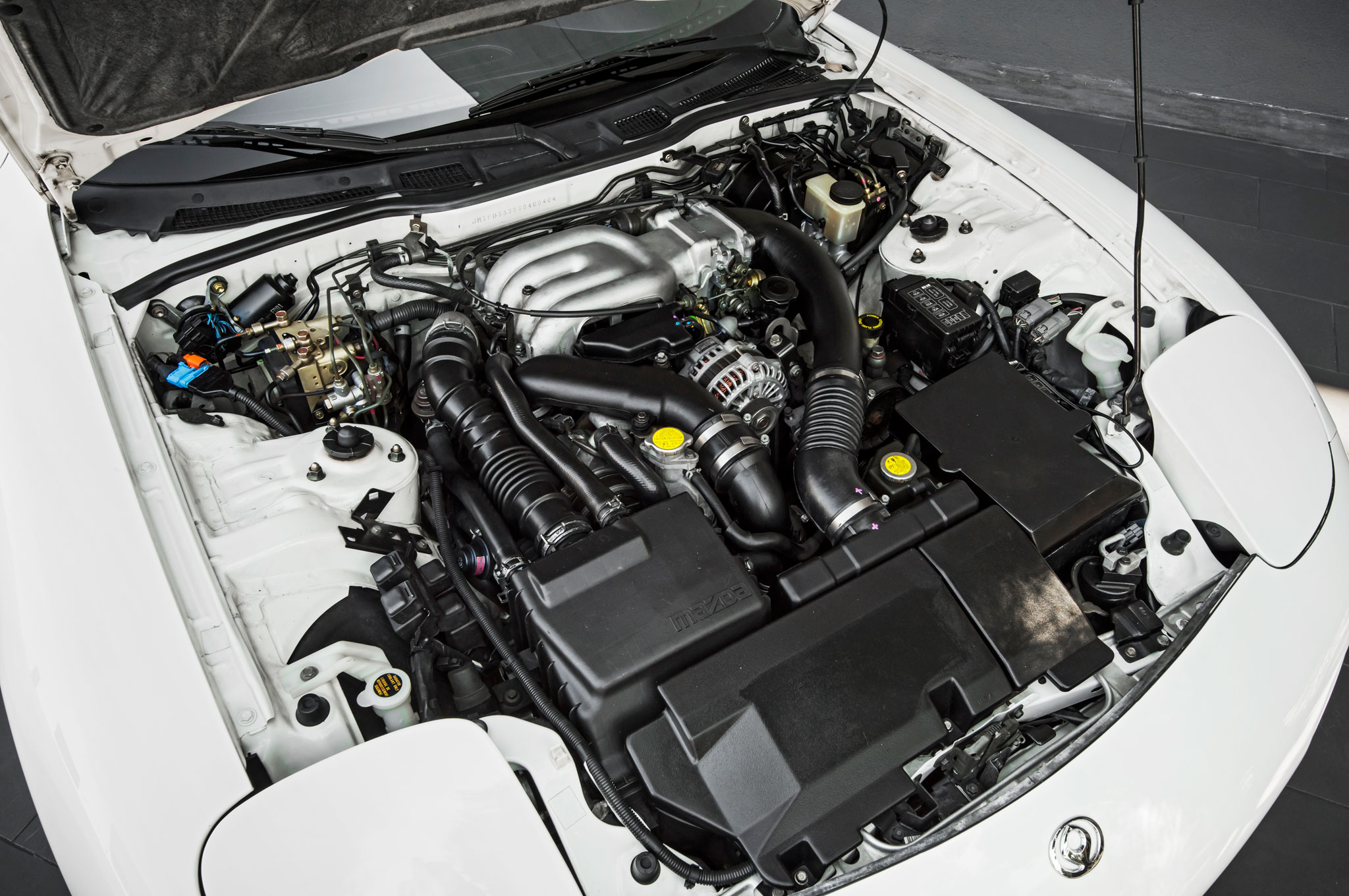 mazda rx7 1985 engine. with twin turbos that required a ratu0027s nest of plumbing the rotary engine ran hot mazda rx7 1985 _
