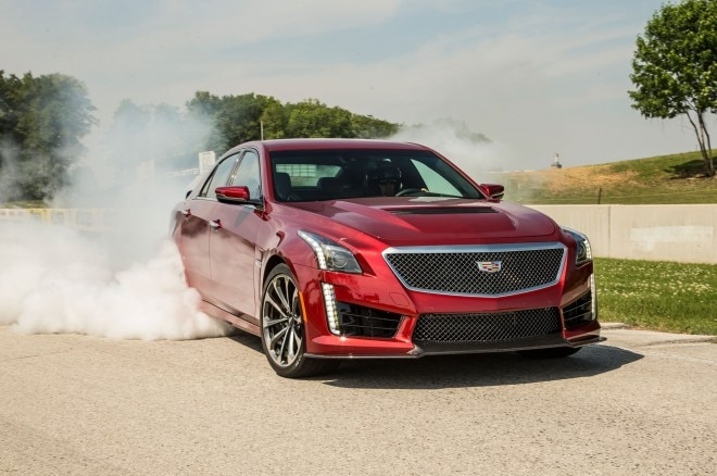 2016 Cadillac CTS V Sedan Tire Burnout1 660x438