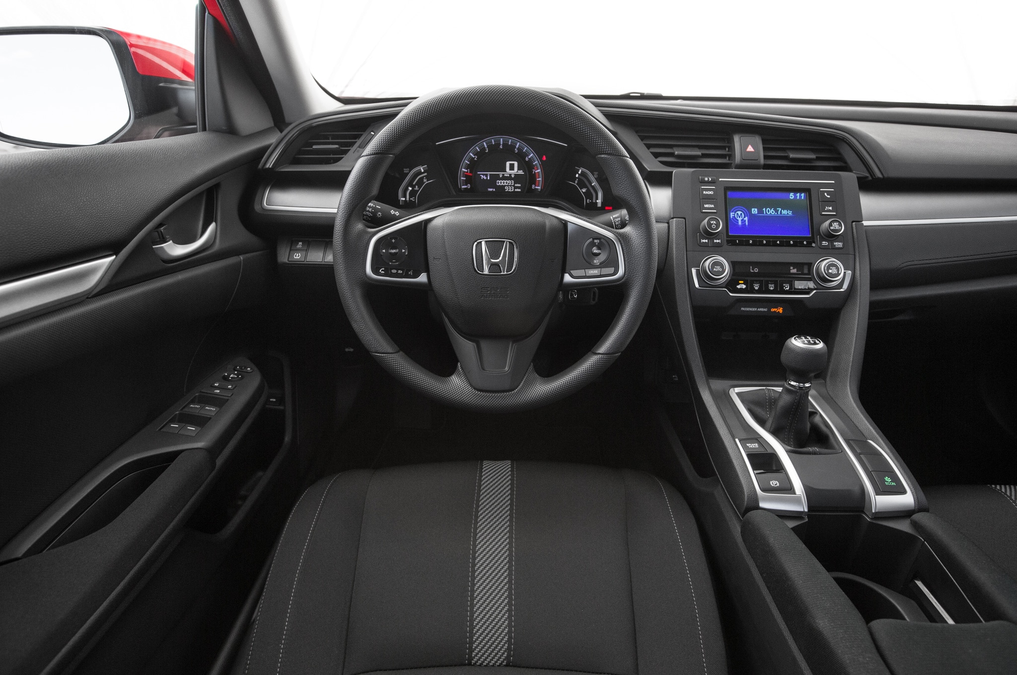 10th Generation Civic Exclusive Pakistan Launch - 2016 Honda Civic Sedan steering wheel and center stack