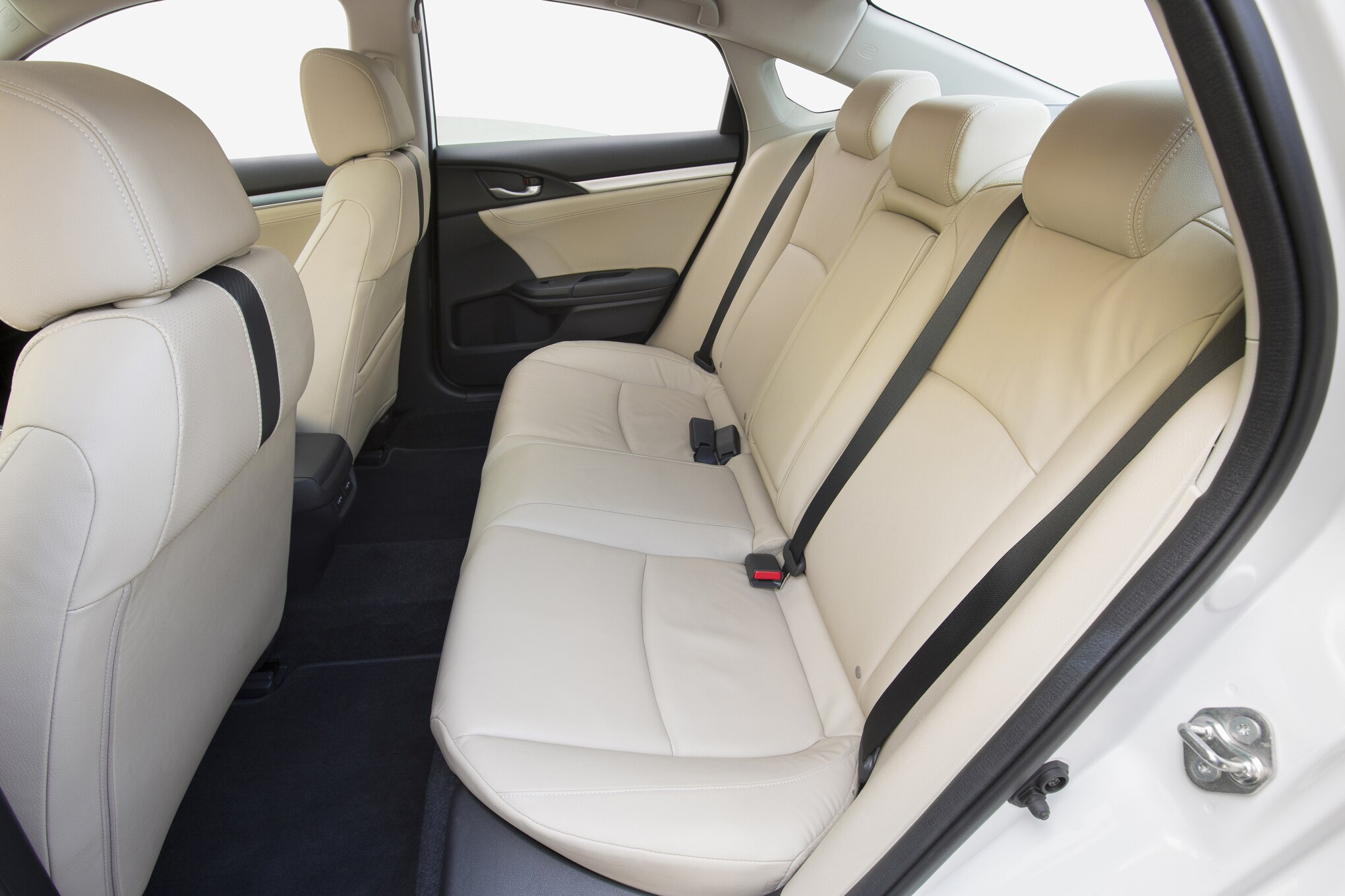 10th Generation Civic Exclusive Pakistan Launch - 2016 Honda Civic Touring rear interior seats