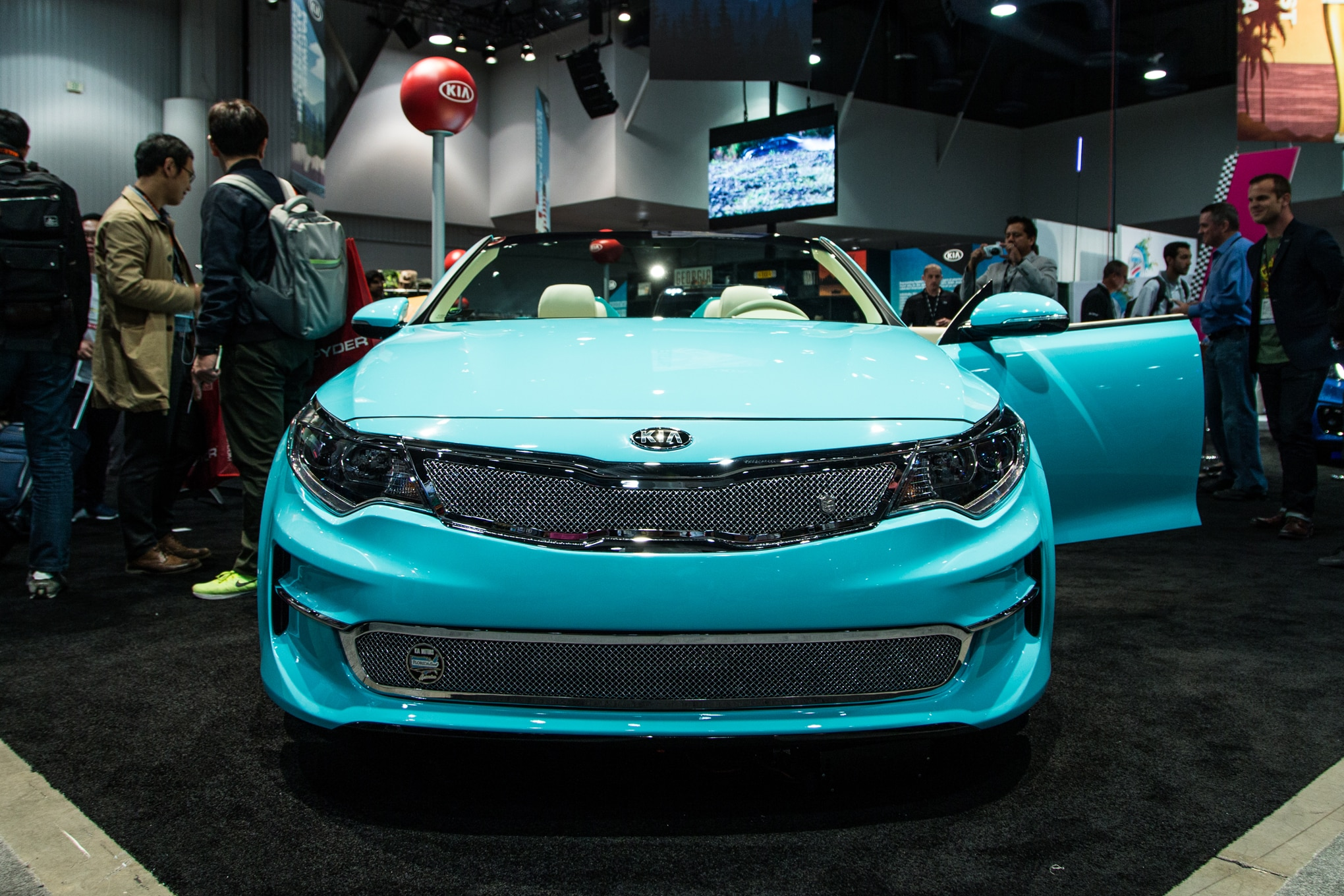 will formacar show of charged en worldwide tease wcc as tuning stinger gt sema corporation liftback part kia automaker news motors vegas view south the in korean las