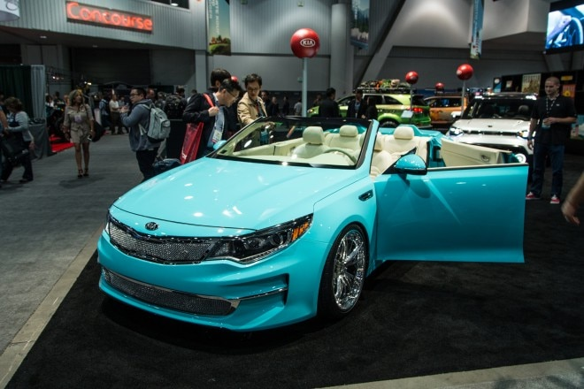 2016 Kia Optima A1A Convertible Concept Front Three Quarter1 660x440