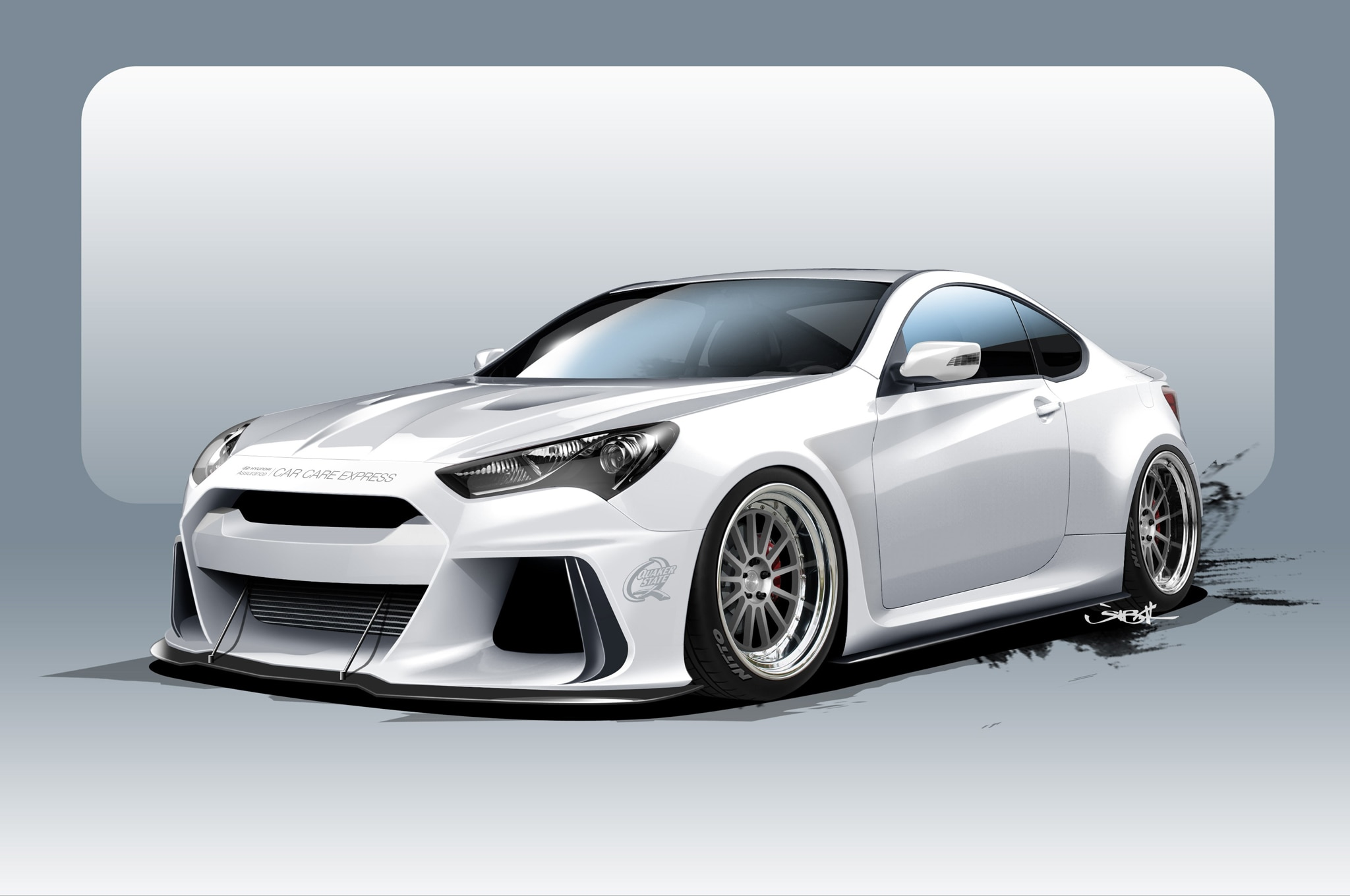 supercharged hyundai genesis coupe heads to sema with 500 hp. Black Bedroom Furniture Sets. Home Design Ideas