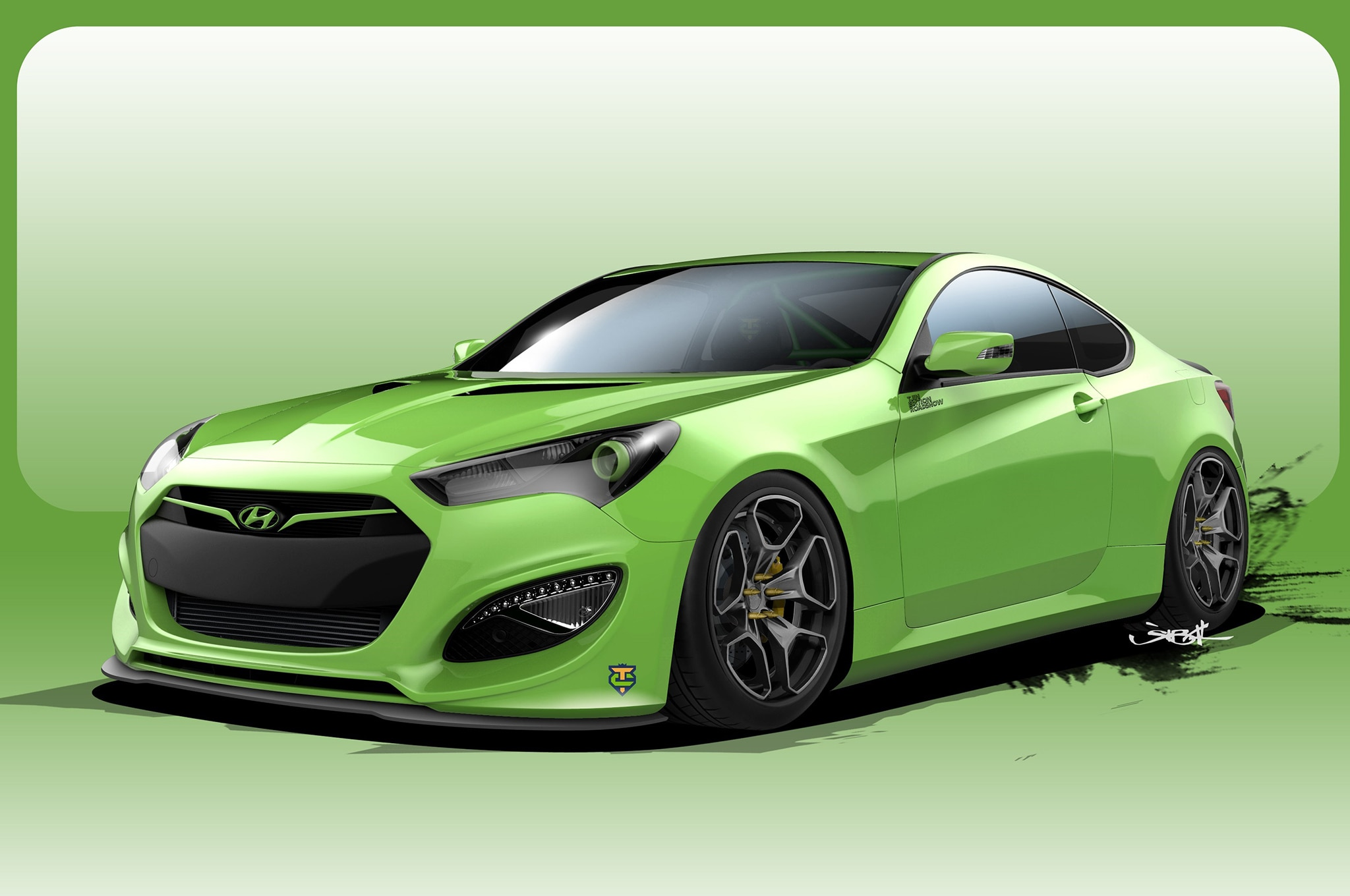 another 500 hp hyundai genesis coupe concept heads to sema. Black Bedroom Furniture Sets. Home Design Ideas