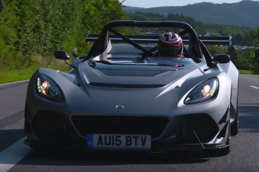 watch the hardcore lotus 3 eleven tackle the nurburgring. Black Bedroom Furniture Sets. Home Design Ideas