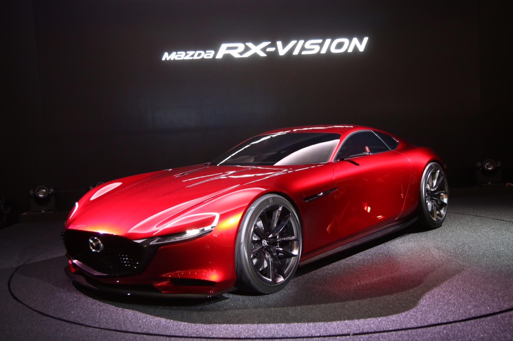 Mazda RX Vision Live Shots Front Three Quarter 22