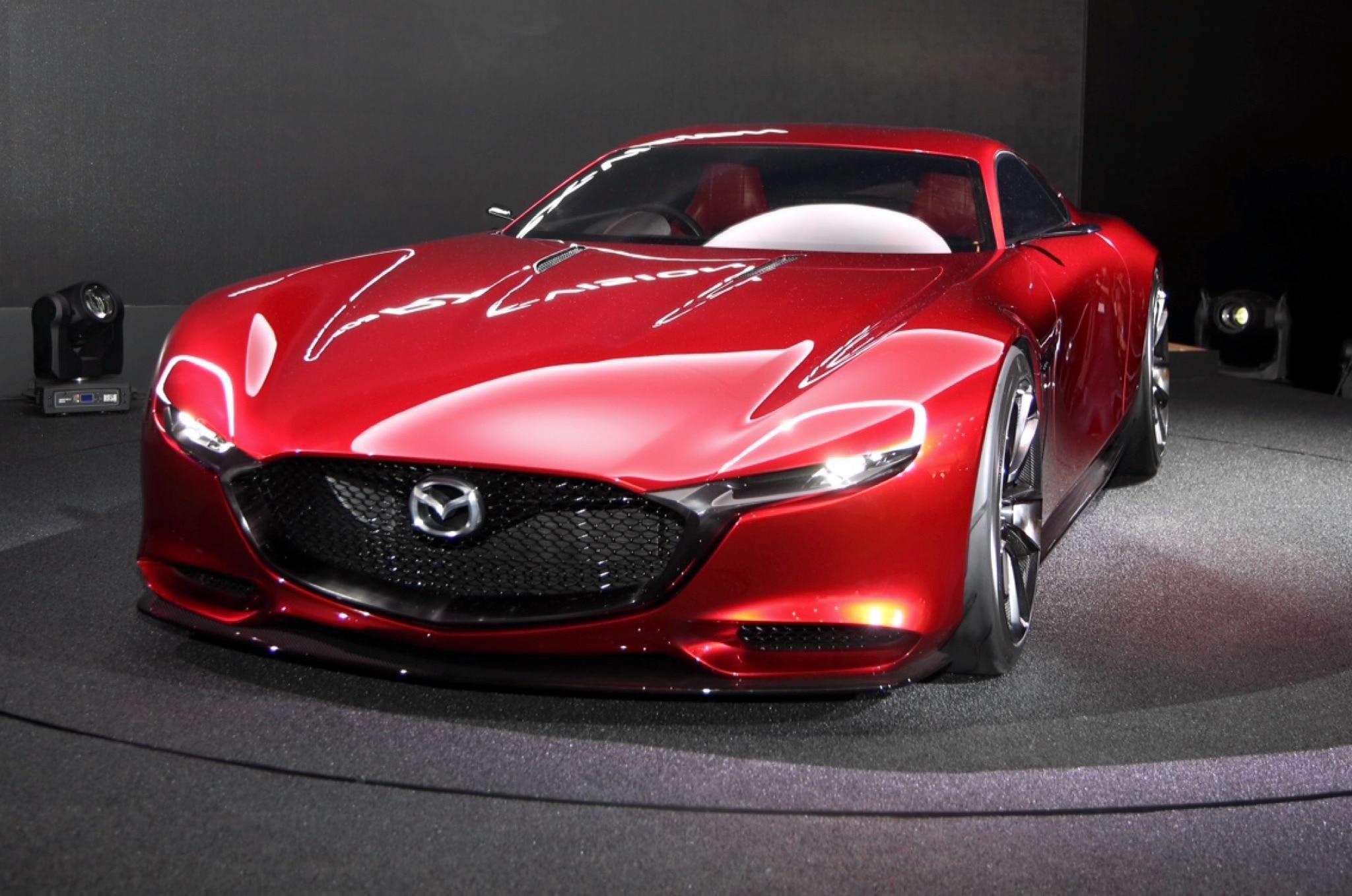 Mazda RX Vision Live Shots Front Three Quarter