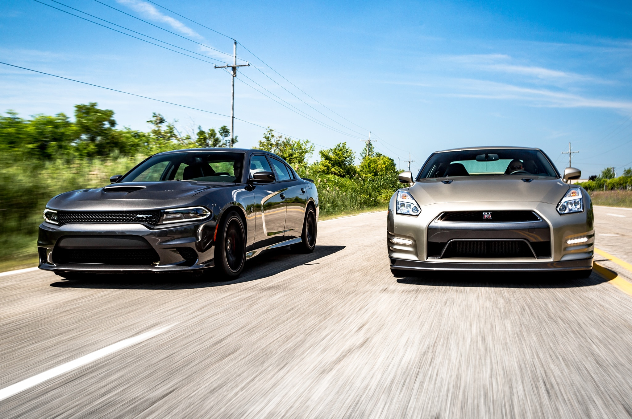 flavors of fast 2015 dodge charger hellcat vs 2016. Black Bedroom Furniture Sets. Home Design Ideas