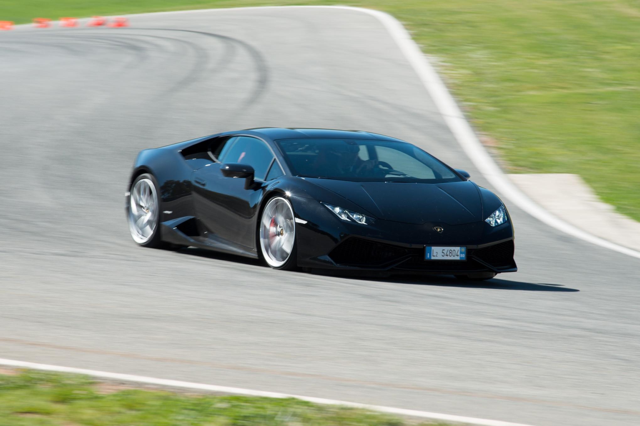 2015-Lamborghini-Huracan-LP-610-4-track-black-front-three-quarters Amazing 2015 Lamborghini Huracan Price Per Month Cars Trend