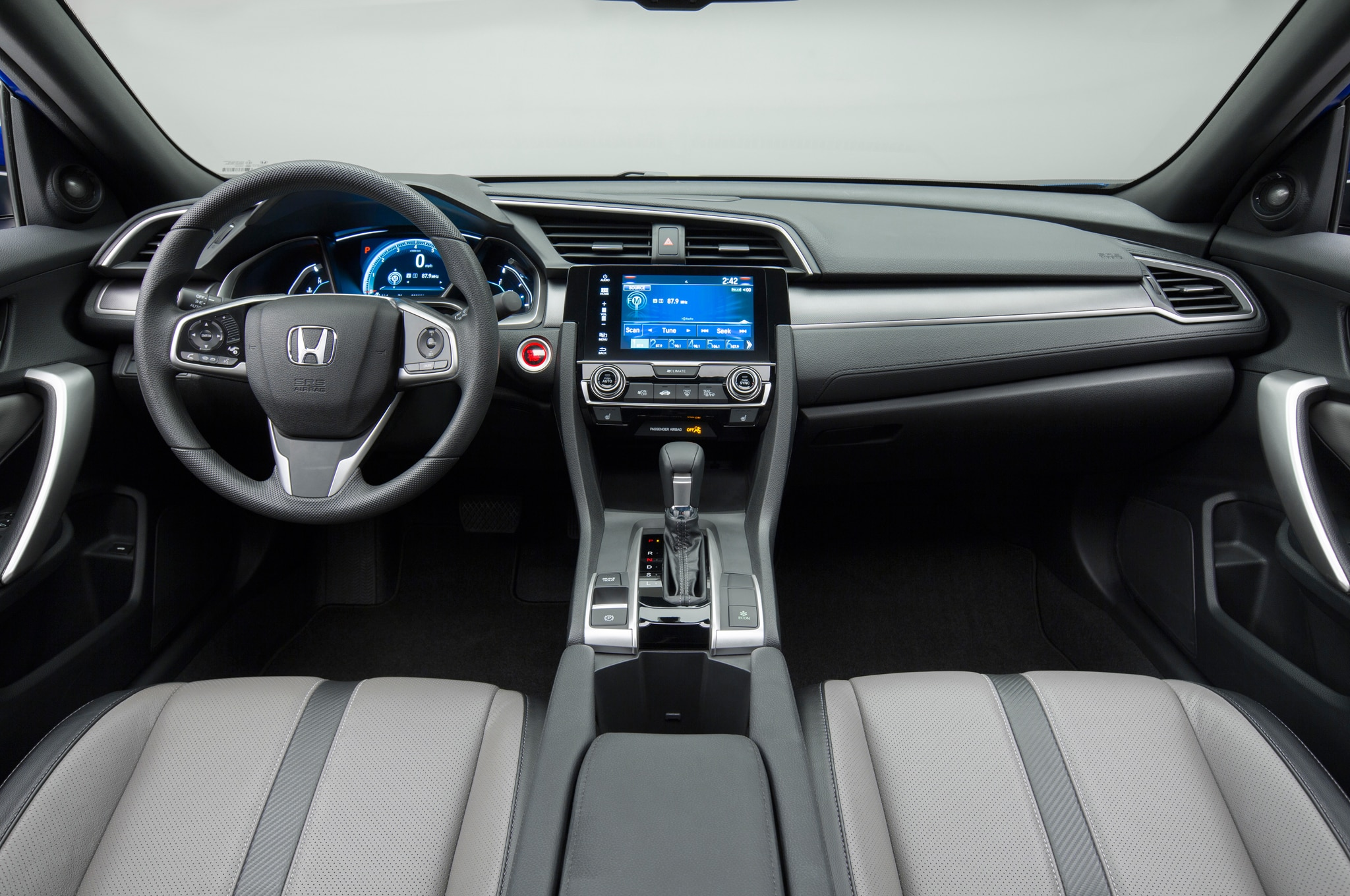 2016 honda civic coupe debuts with sportier styling - 2016 honda civic si coupe interior ...