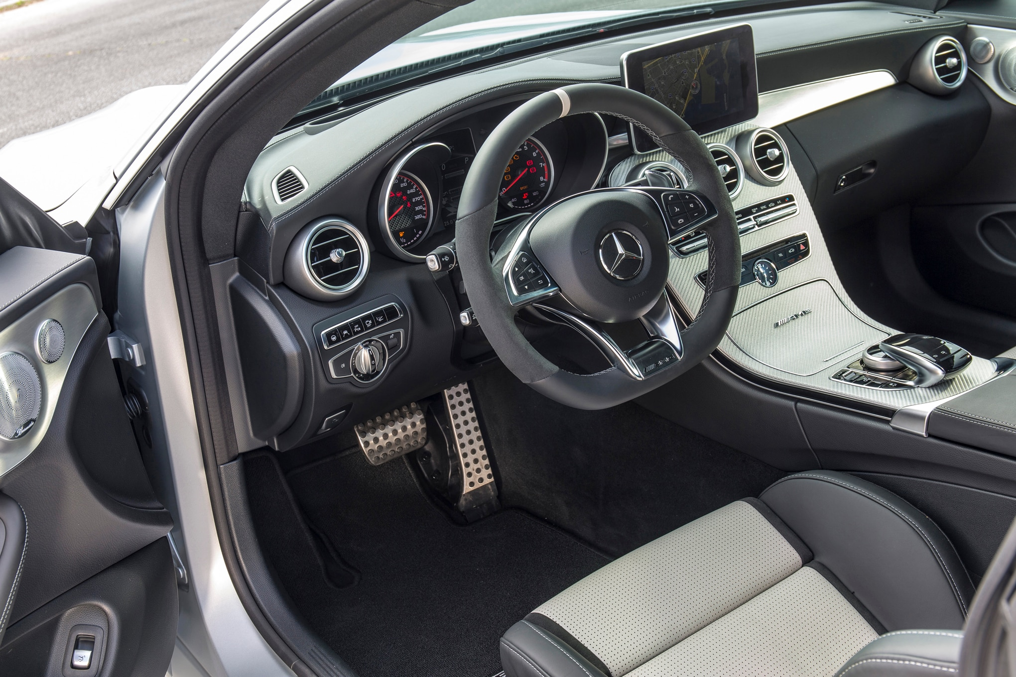 2017 mercedes amg c63 s coupe interior driver side