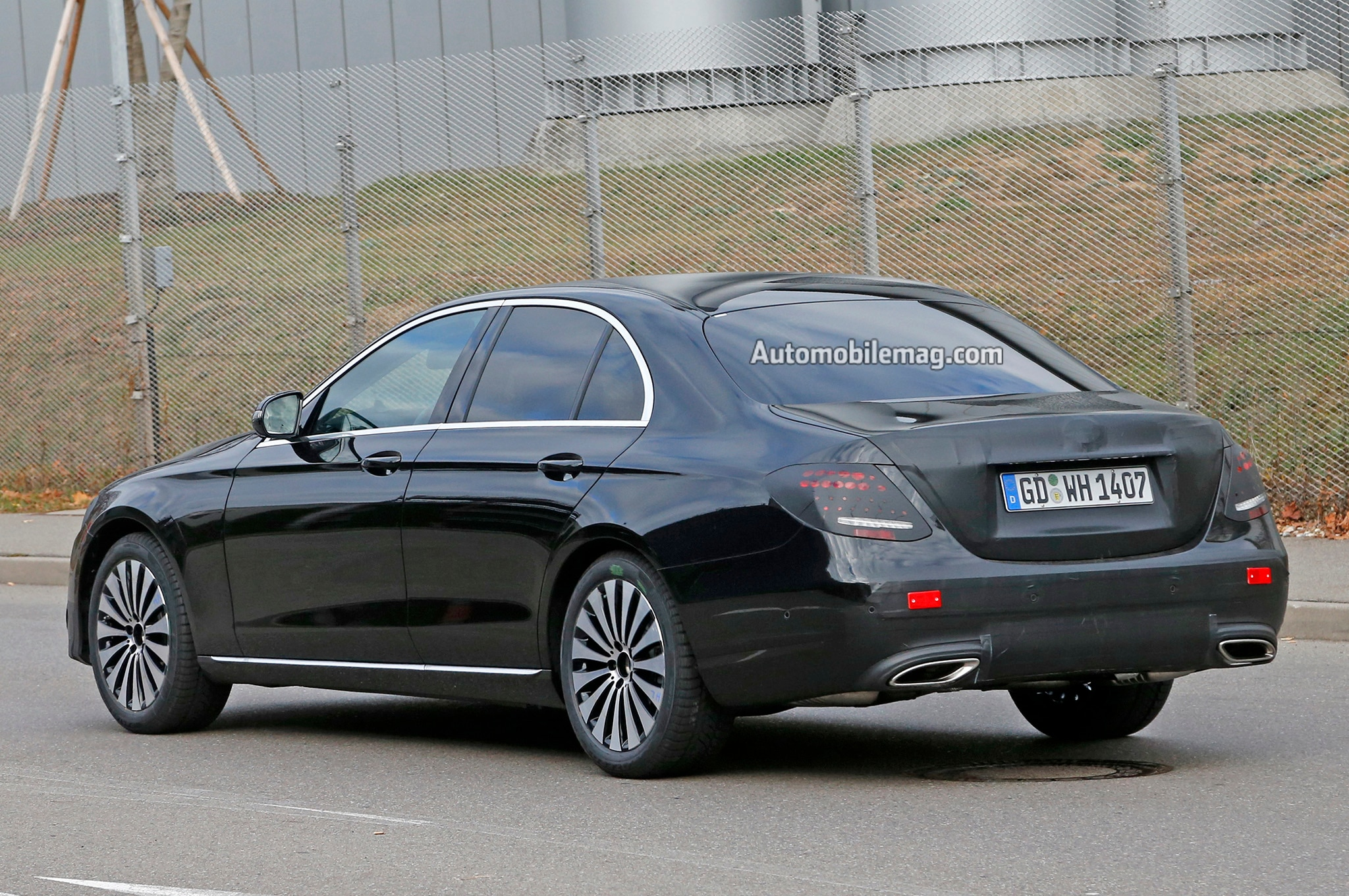 2017 mercedes benz e class spied nearly undisguised for 2017 mercedes benz e350