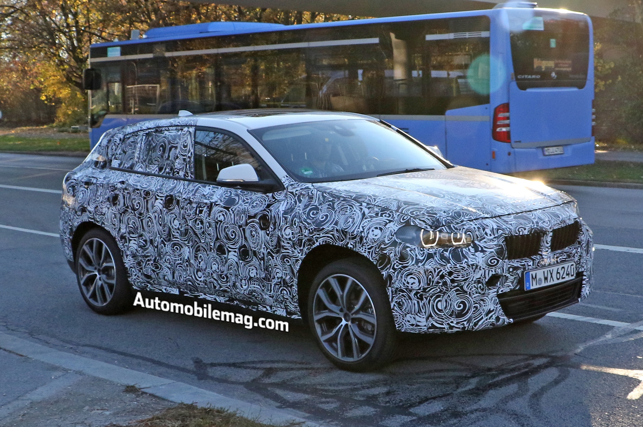 BMW X2 Spy Photos Front Three Quarter 3