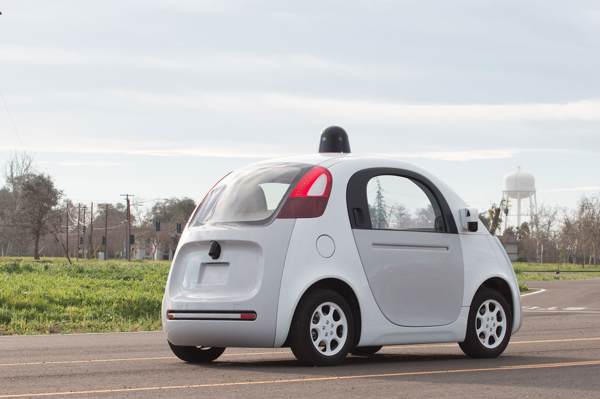 google autonomous vehicle pulled over for driving too slowly. Black Bedroom Furniture Sets. Home Design Ideas