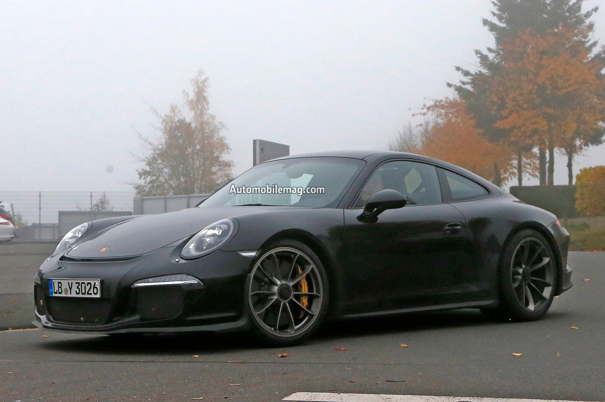 Porsche 911 R Spied Front Three Quarter