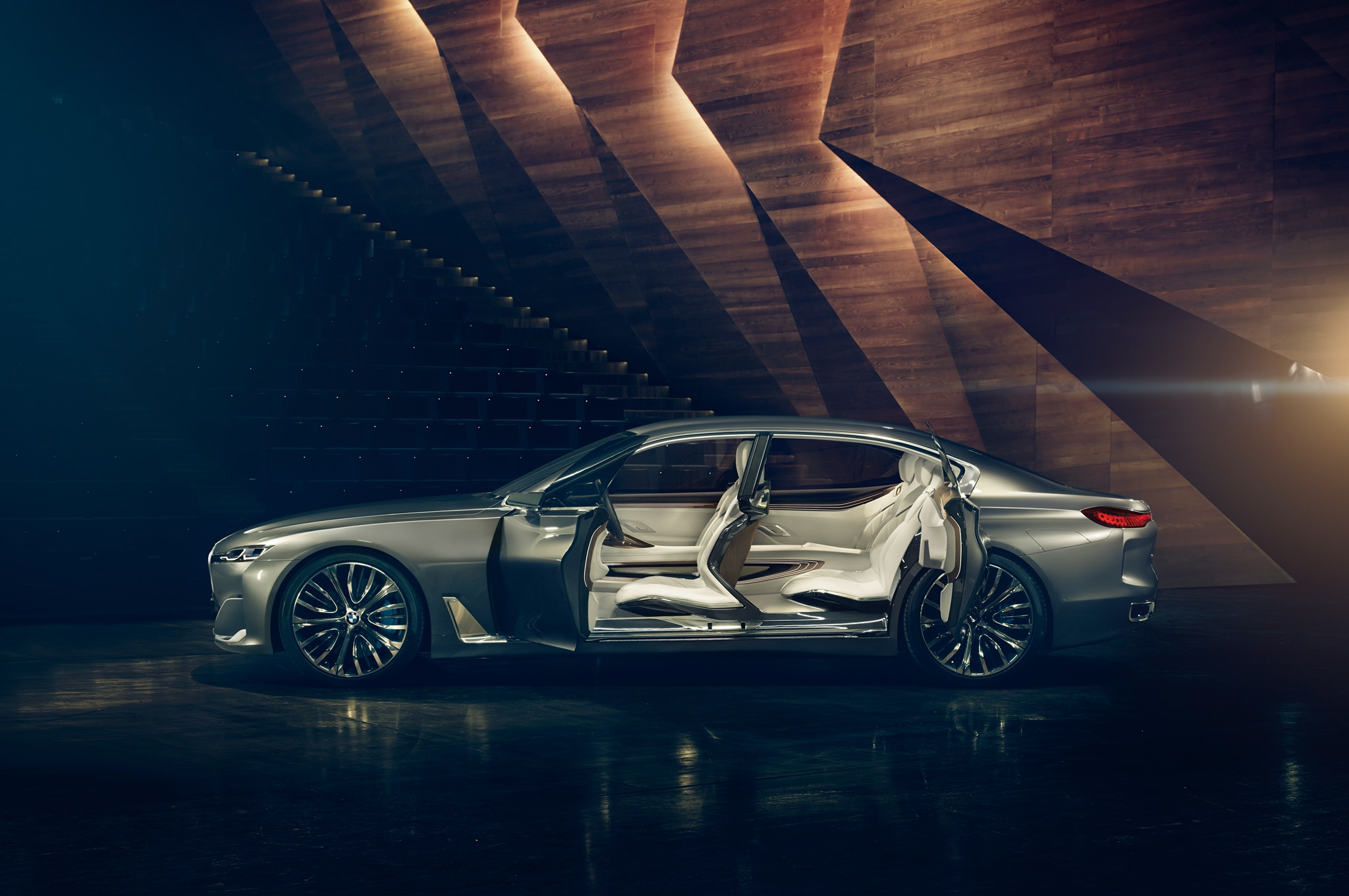 BMW Vision Future Luxury Concept Side Interior View