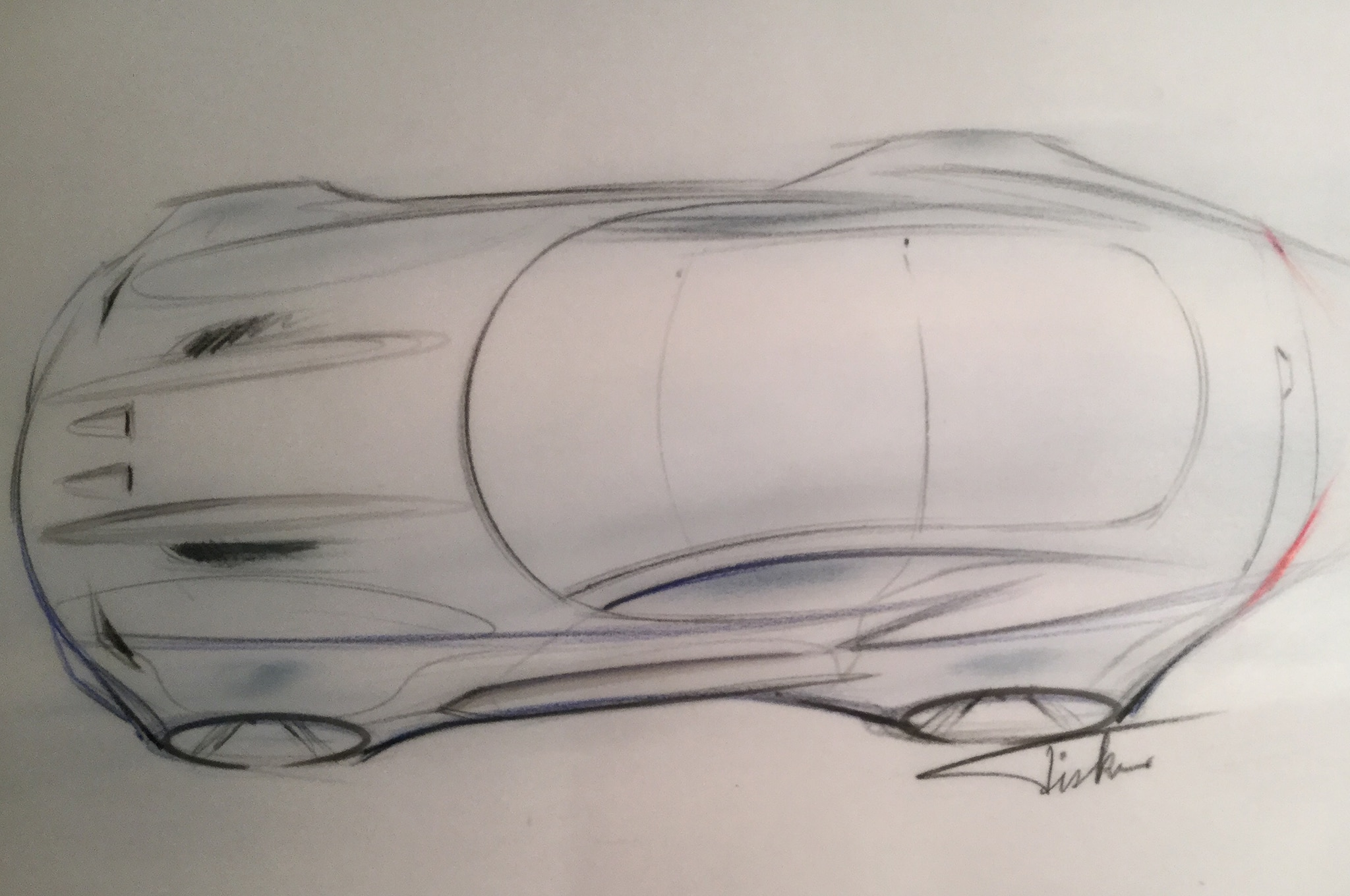 Henrik Fisker Design The Force 1 Sketch
