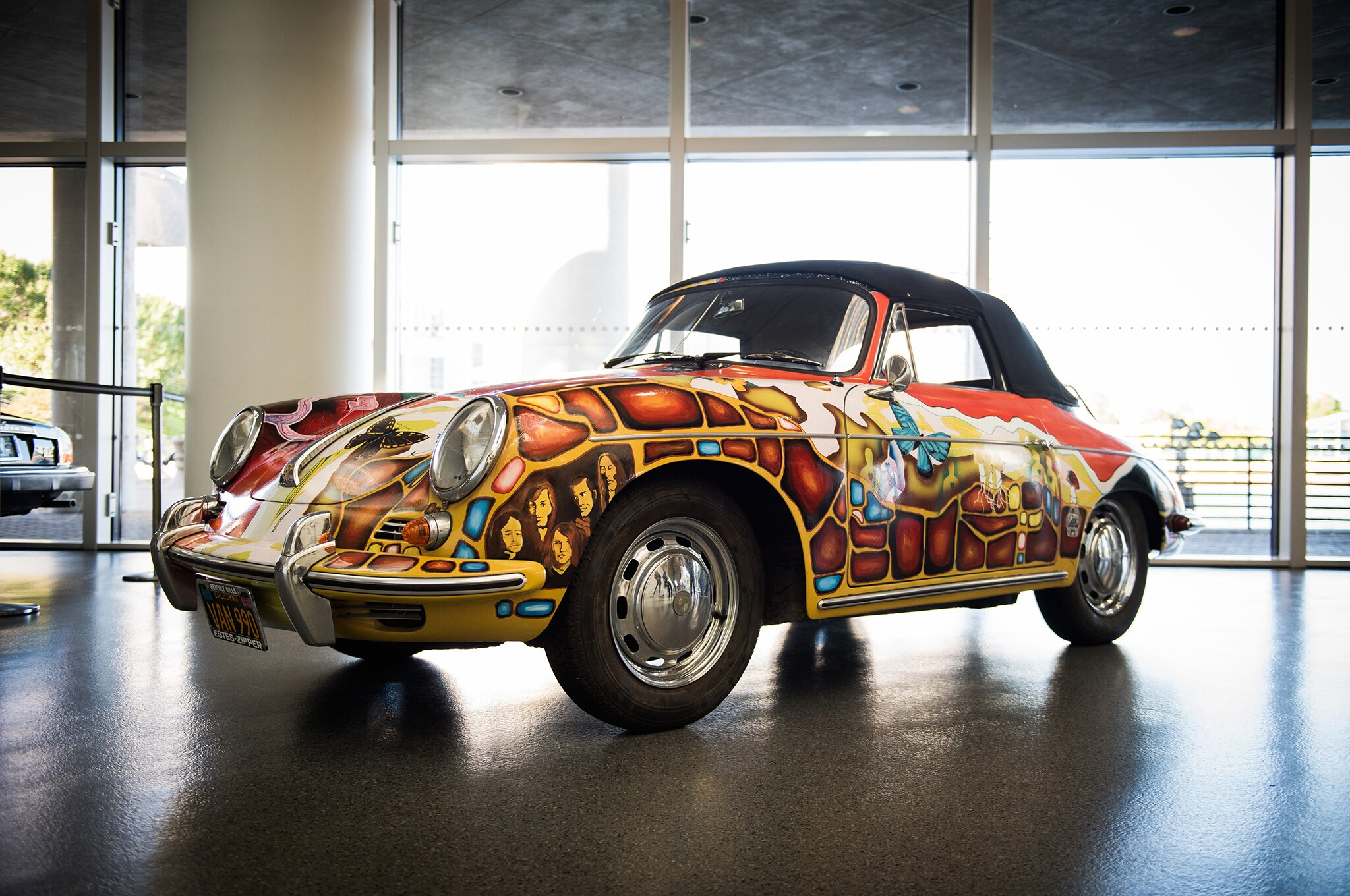 Car Auctions Ny >> Janis Joplin's Psychedelic 1964 Porsche 356 Sells for $1 ...